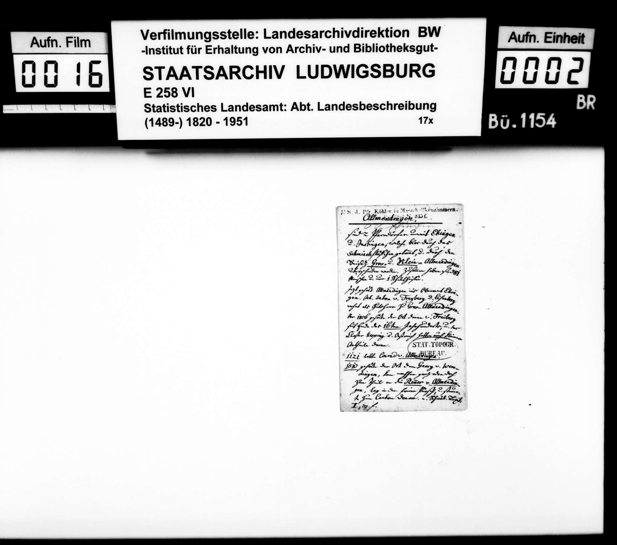 Ortsbeschreibung von Allmendingen, Bild 1