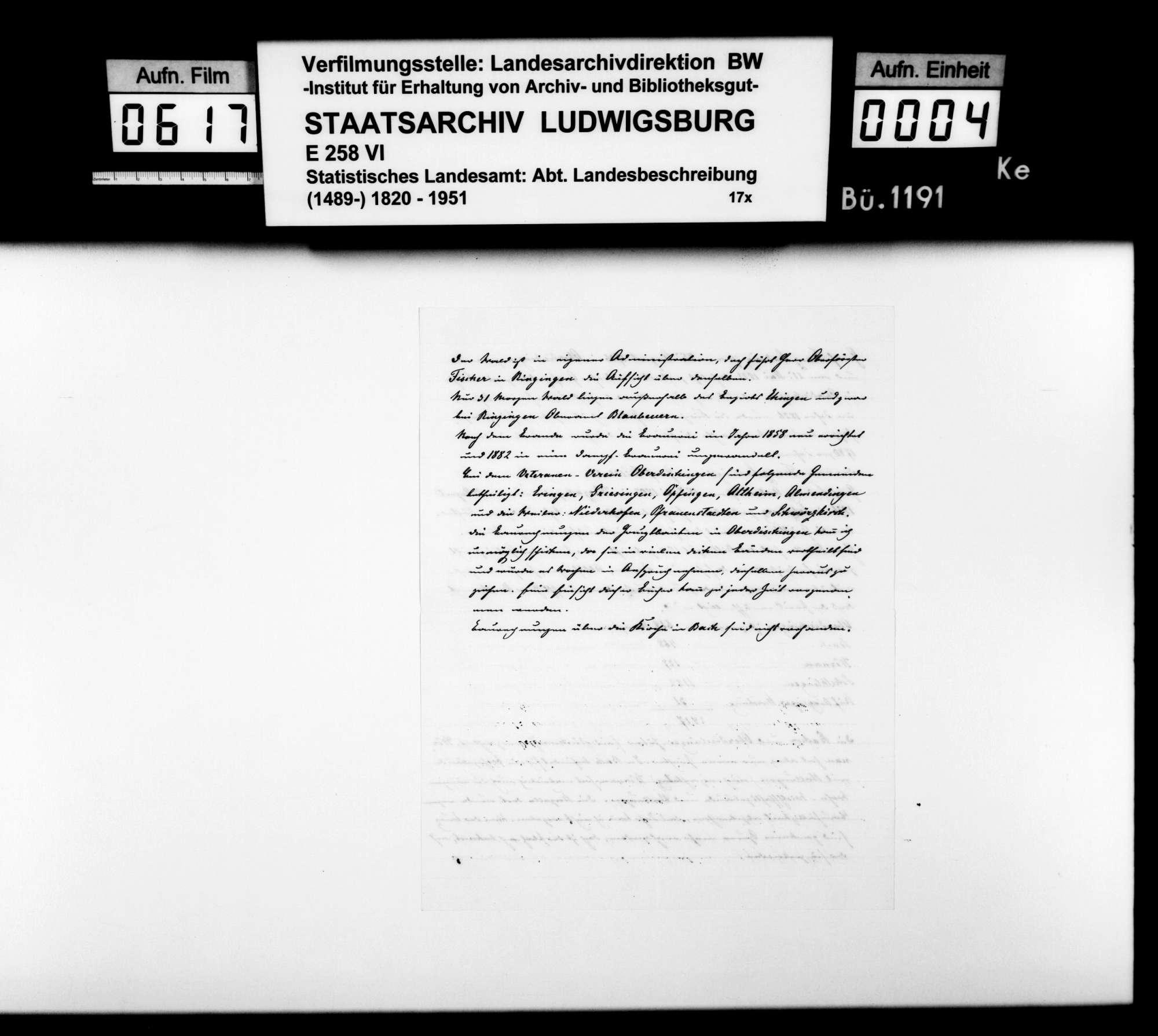 Ortsbeschreibung von Oberdischingen, Bild 2