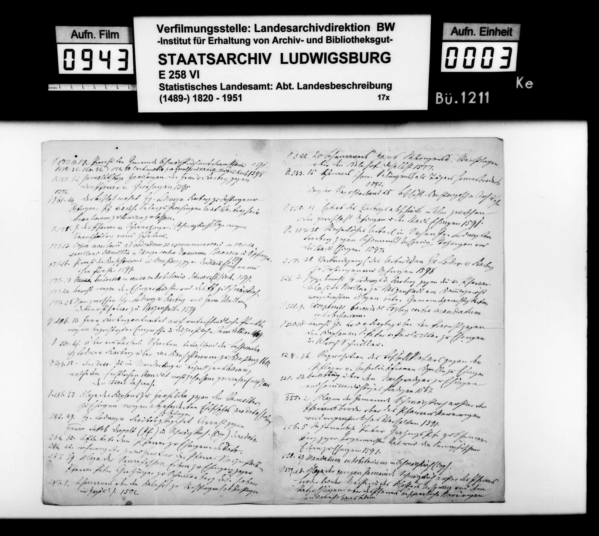 Materialsammlung sowie Berichtigung und Nachtrag zur OAB 1893, Bild 2