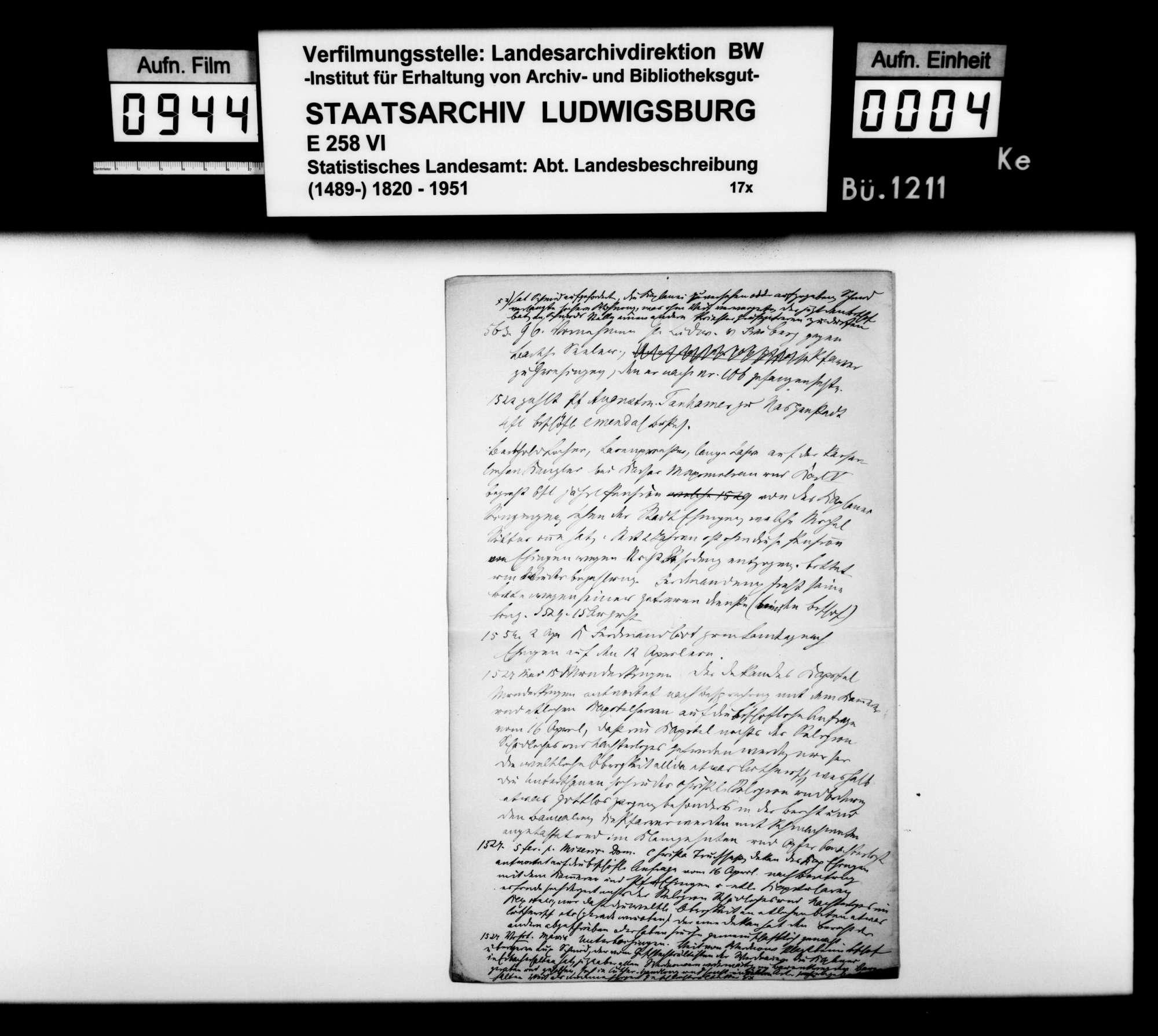 Materialsammlung sowie Berichtigung und Nachtrag zur OAB 1893, Bild 3