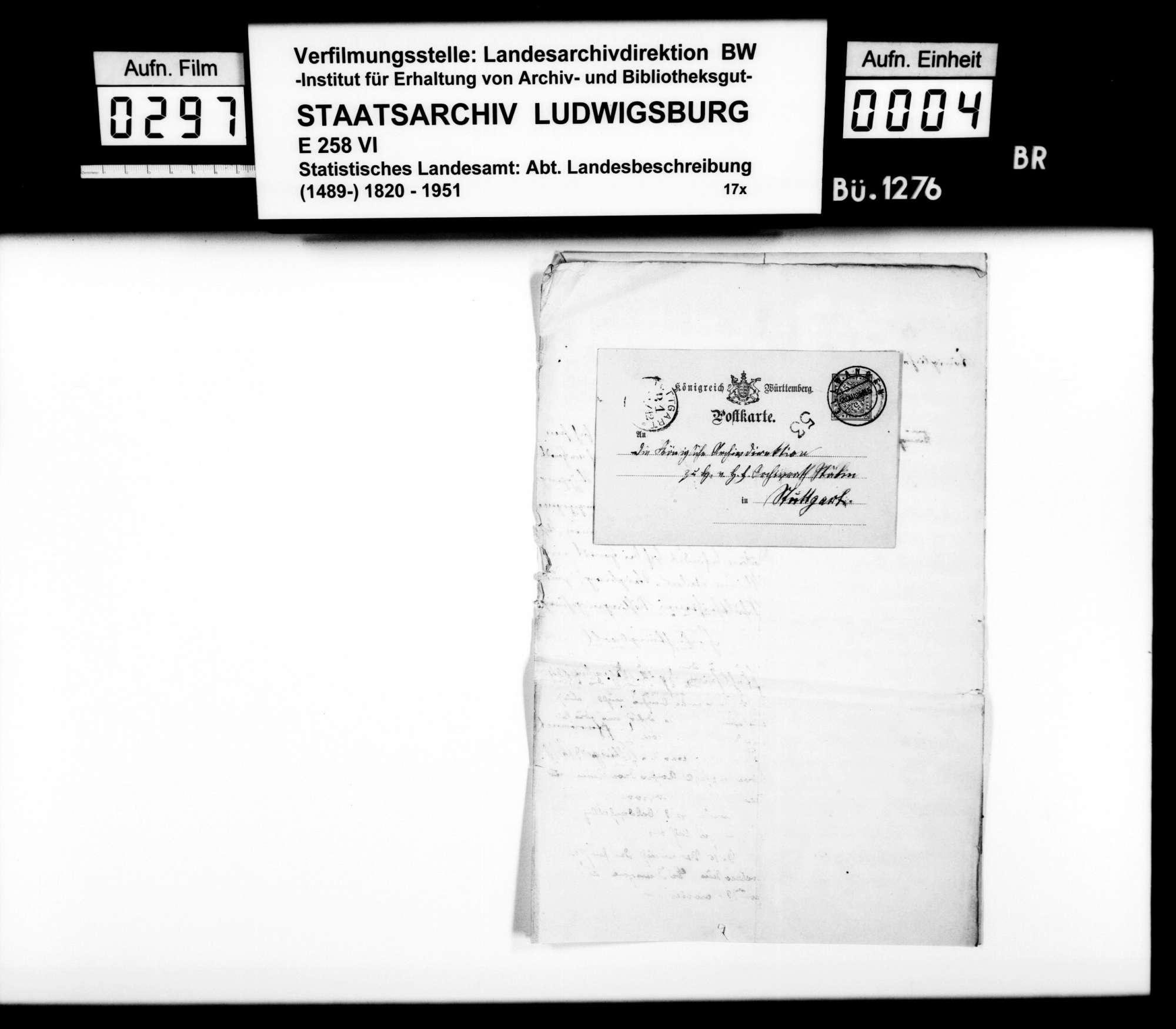 Auskünfte lokaler Amtsträger auf Nachfragen des STBs v.a. zu Besitzgeschichte und Rechtsverhältnissen, Bild 3