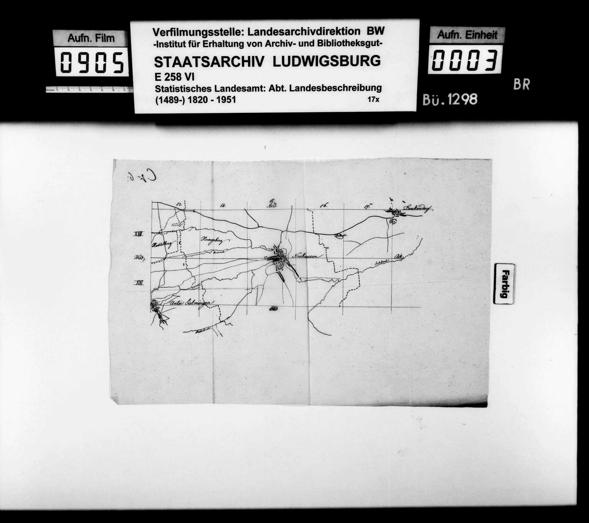 Skizzen der Flurkartenquadrate XX 15 - XX 22 (Esslingen-Altbach) und XVII 13 - XV 18 (Sielmingen-Denkendorf) im Maßstab ca. 1:25 000, Bild 2