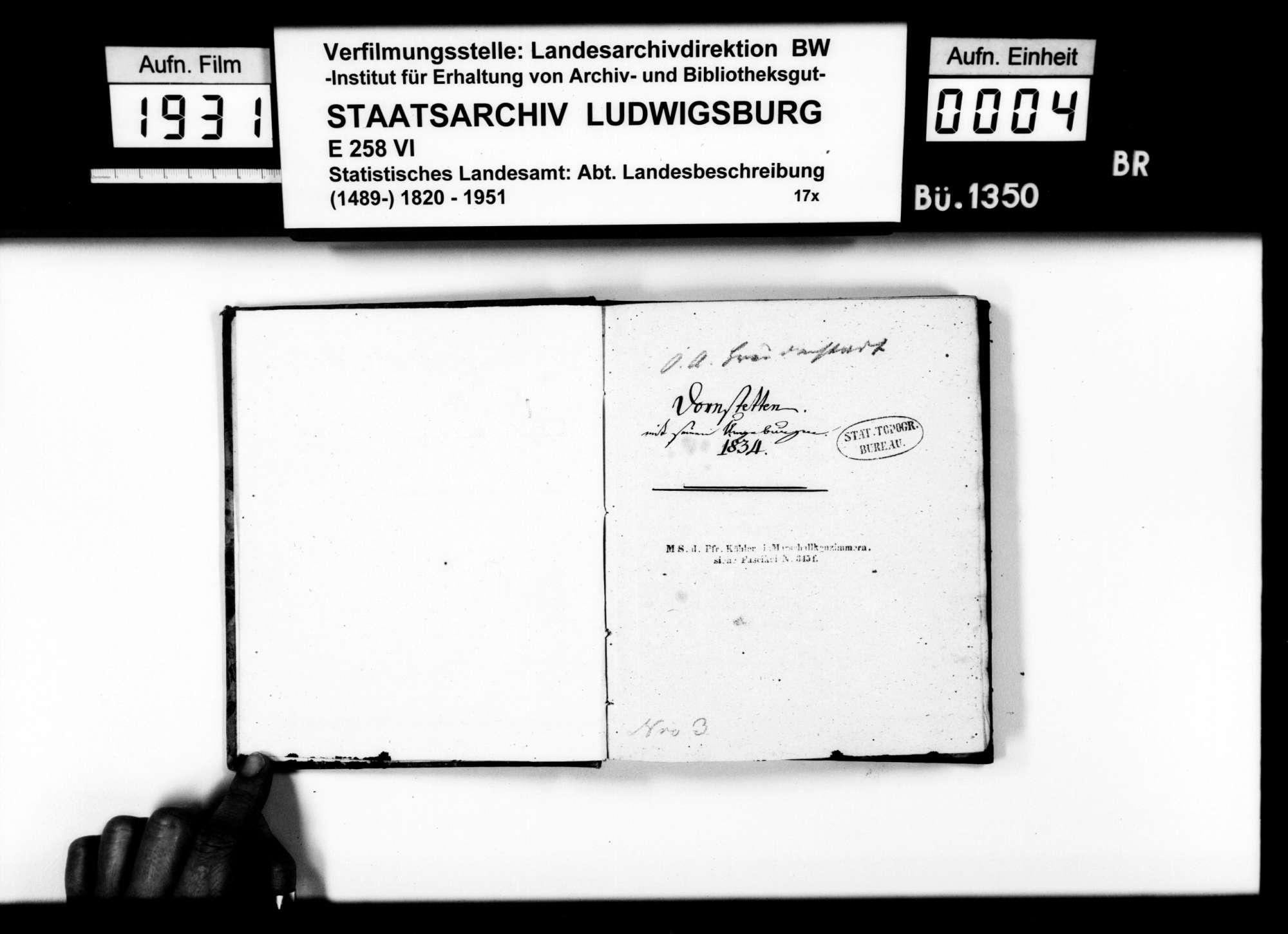Topographisch-statistische und historiographische Beschreibung der Stadt und des ehemaligen Amts Dornstetten, von Pfarrer Köhler aus Marschalkenzimmern, Bild 3