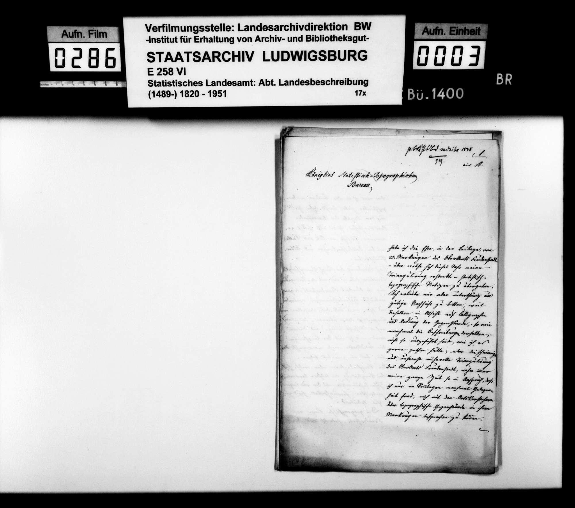 Statistisch-topographische Notizen des Trigonometers Kohler zum Oberamt, Bild 2