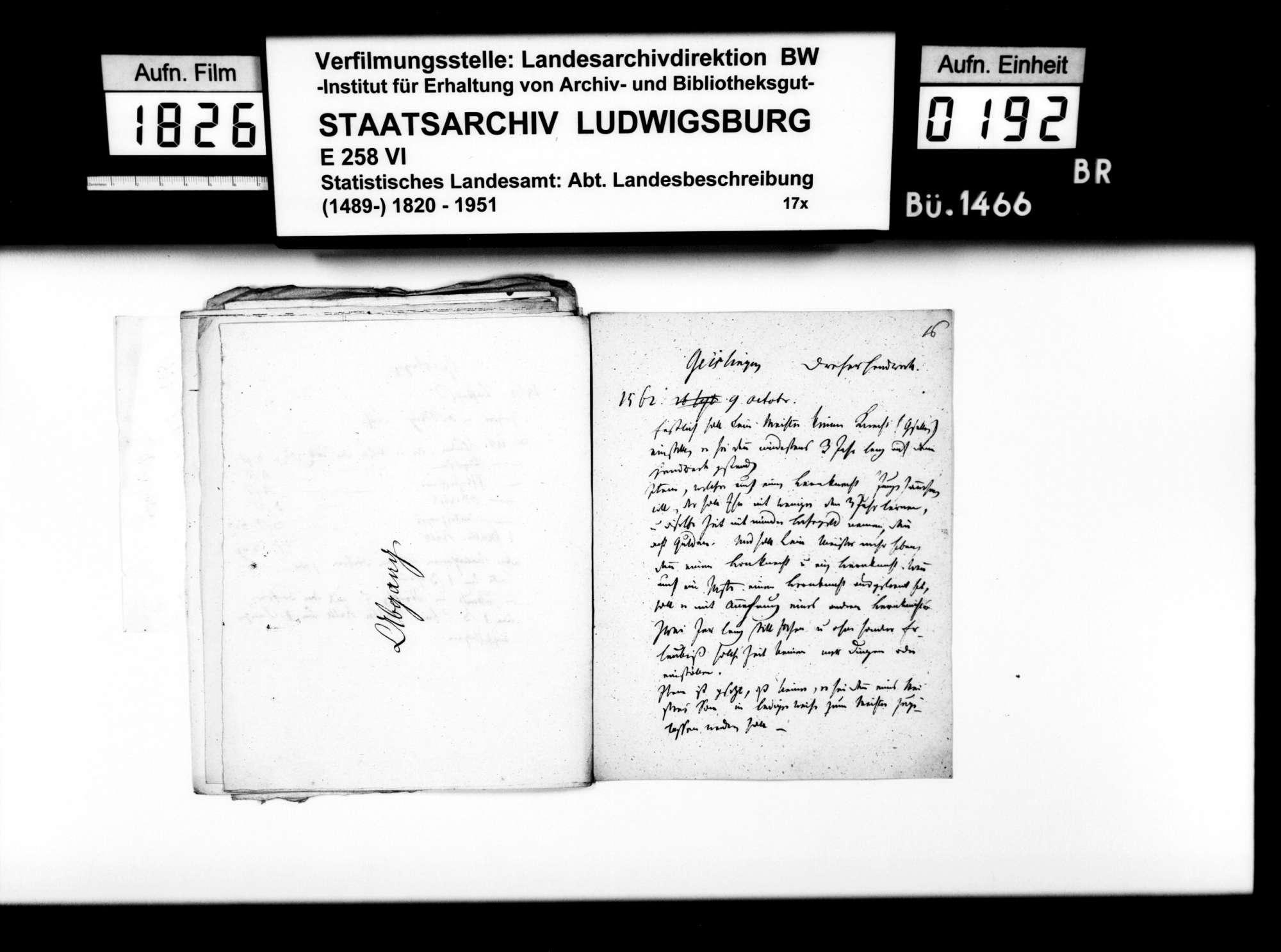 Notizen des Pfarrers Dieterich aus Langenau zur Geschichte des Oberamts Geislingen, Bild 2