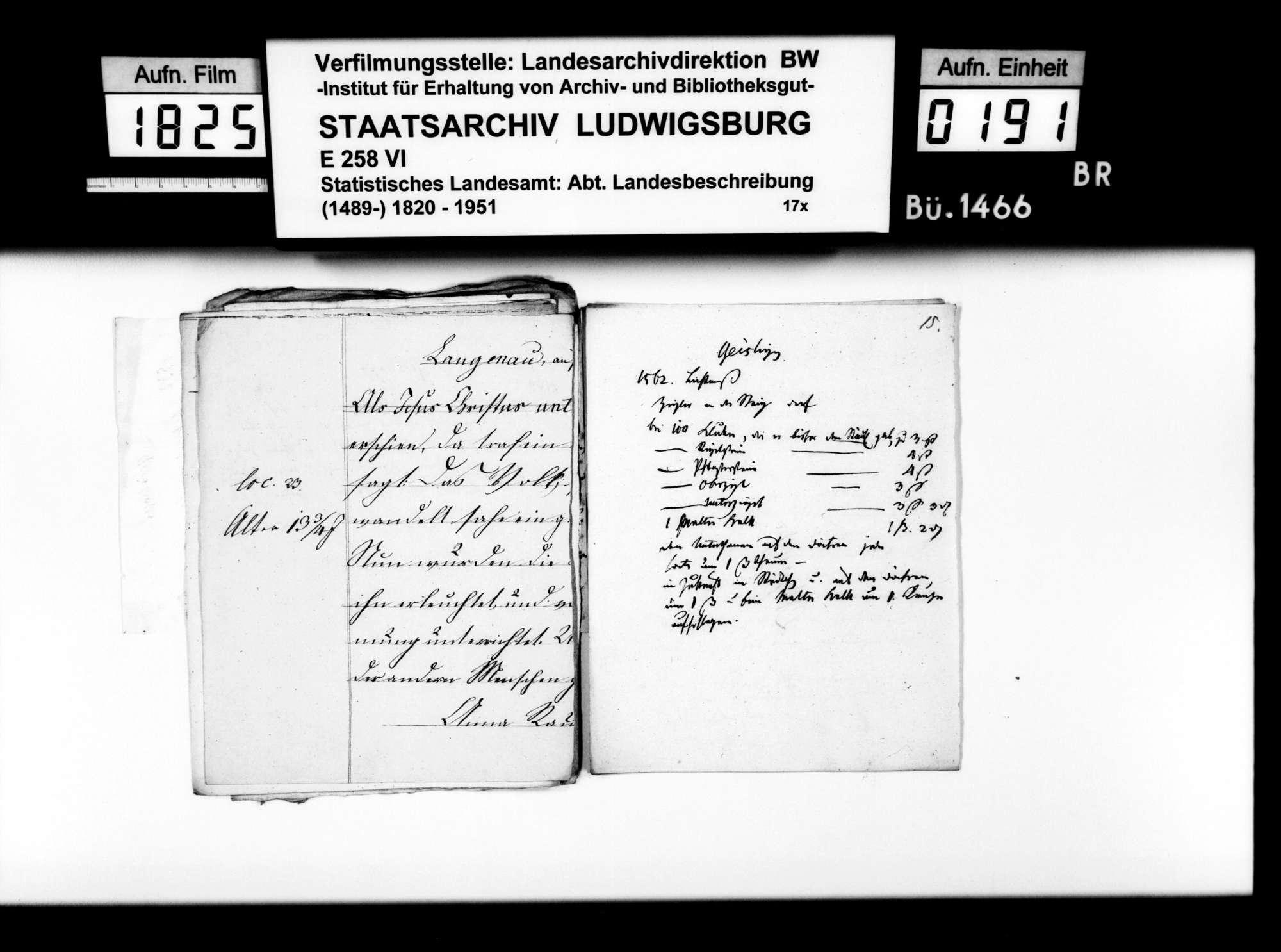 Notizen des Pfarrers Dieterich aus Langenau zur Geschichte des Oberamts Geislingen, Bild 3