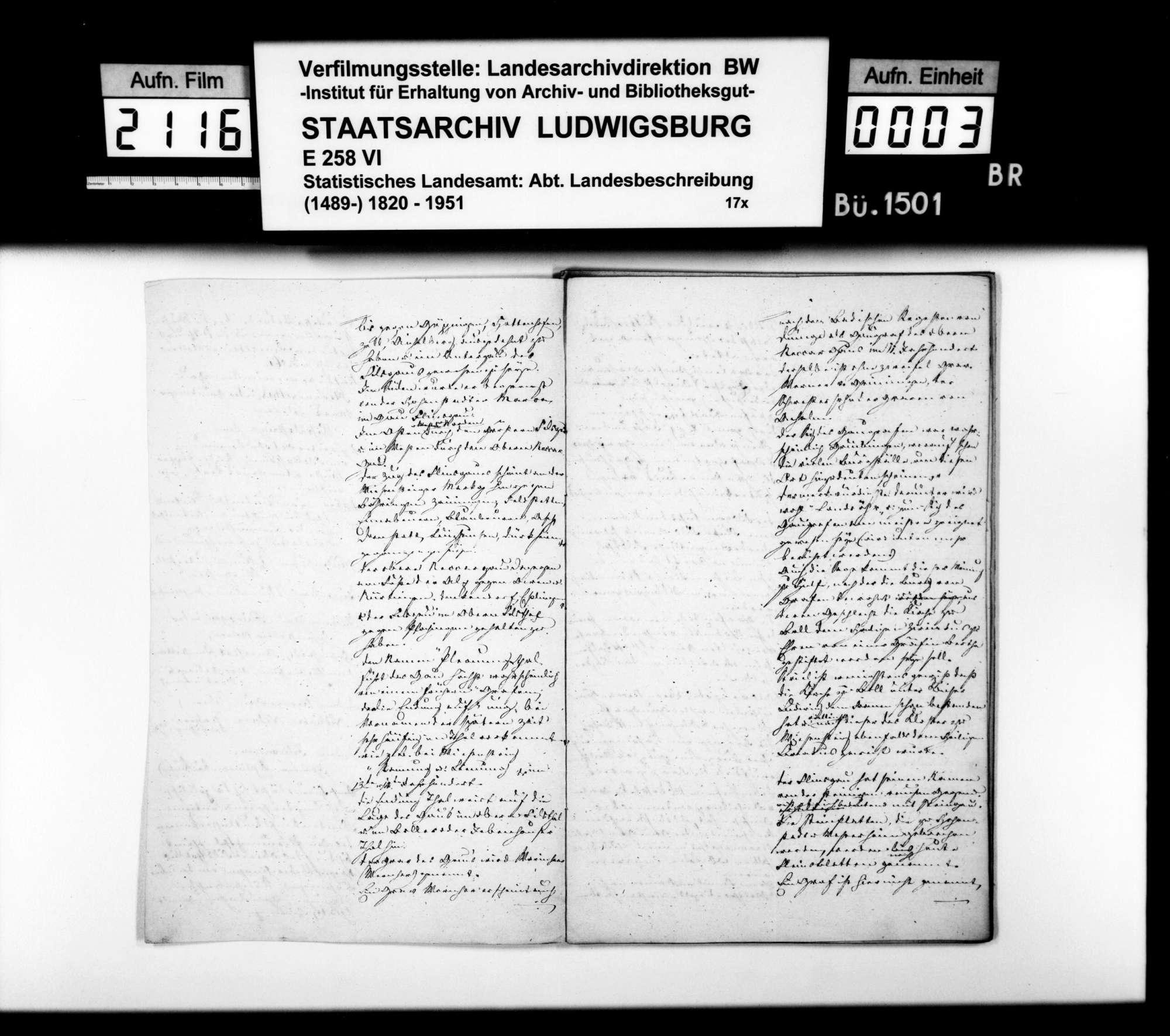 Beschreibung des Gebiets der vormaligen Herrschaft Wiesensteig durch den Steuerkommissär Steinheil, gewesenen Kameralamtsbuchhalter in Wiesensteig, Bild 2