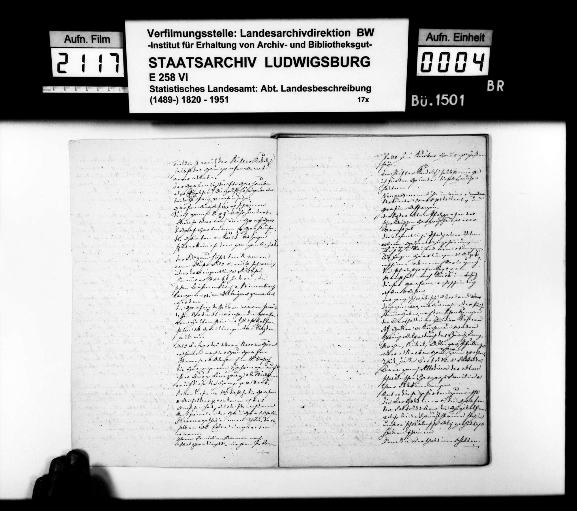 Beschreibung des Gebiets der vormaligen Herrschaft Wiesensteig durch den Steuerkommissär Steinheil, gewesenen Kameralamtsbuchhalter in Wiesensteig, Bild 3