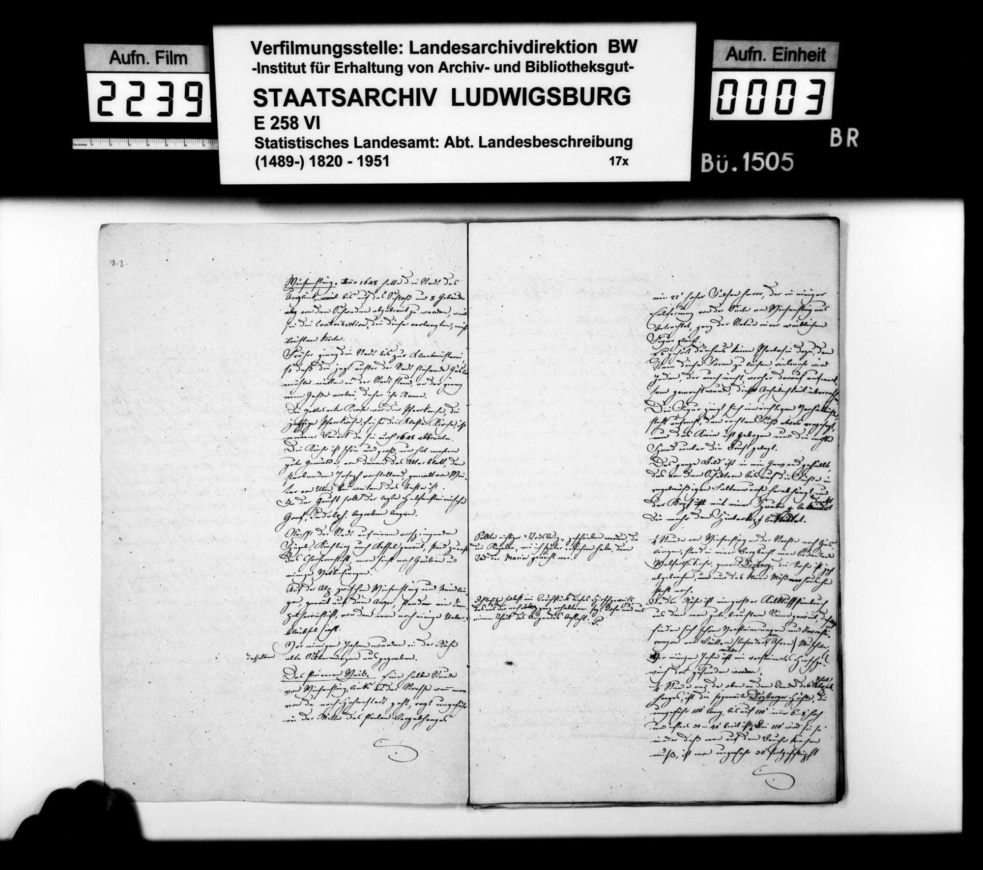 Bemerkungen des Topographen [Karl] E[duard] Paulus zu den topographischen Blättern Wiesensteig, Weißenstein und Donzdorf, Bild 2