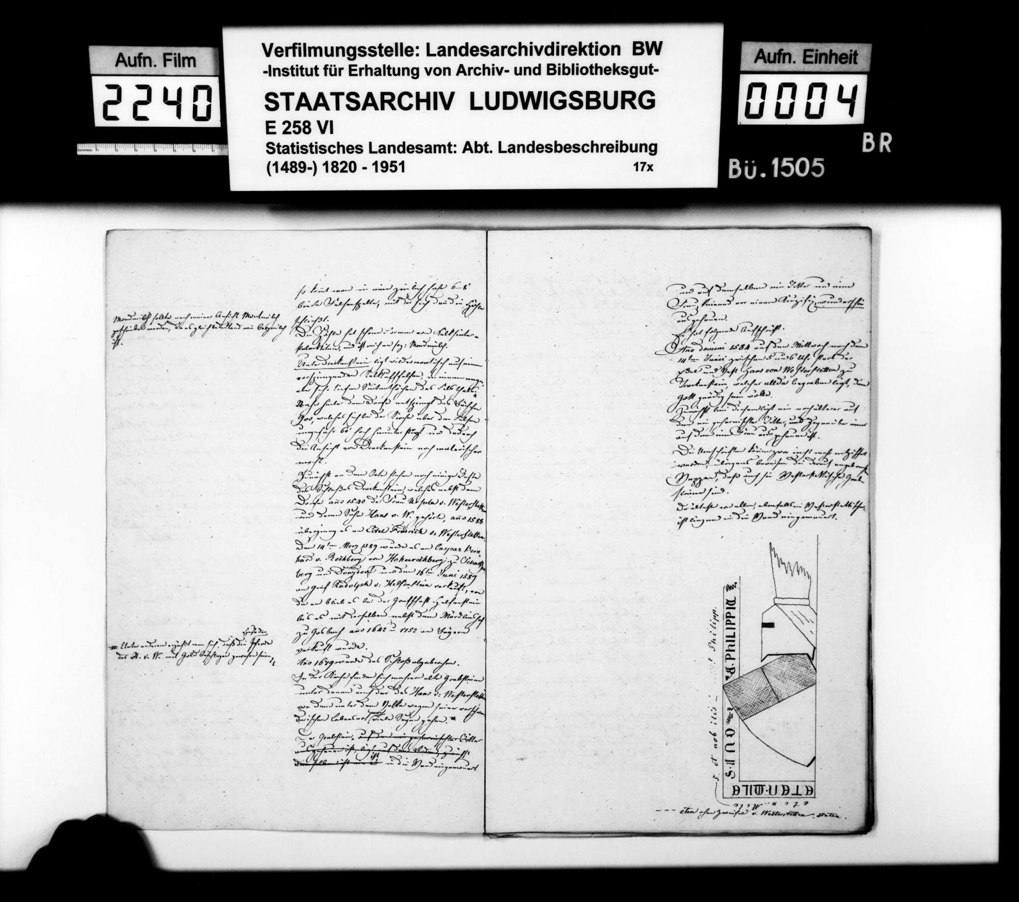 Bemerkungen des Topographen [Karl] E[duard] Paulus zu den topographischen Blättern Wiesensteig, Weißenstein und Donzdorf, Bild 3