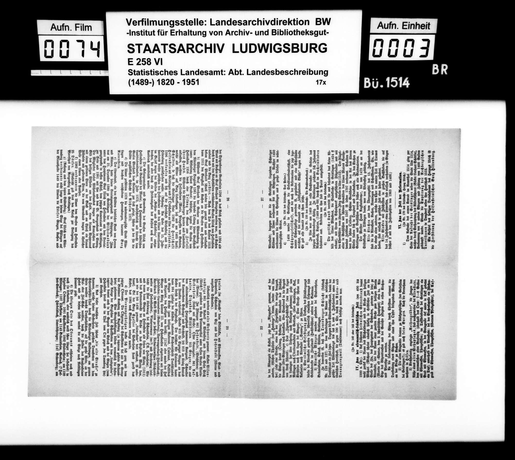 Sammlung gedruckten Materials v.a. zur Geschichte, für eine Neubearbeitung der OAB, Bild 2
