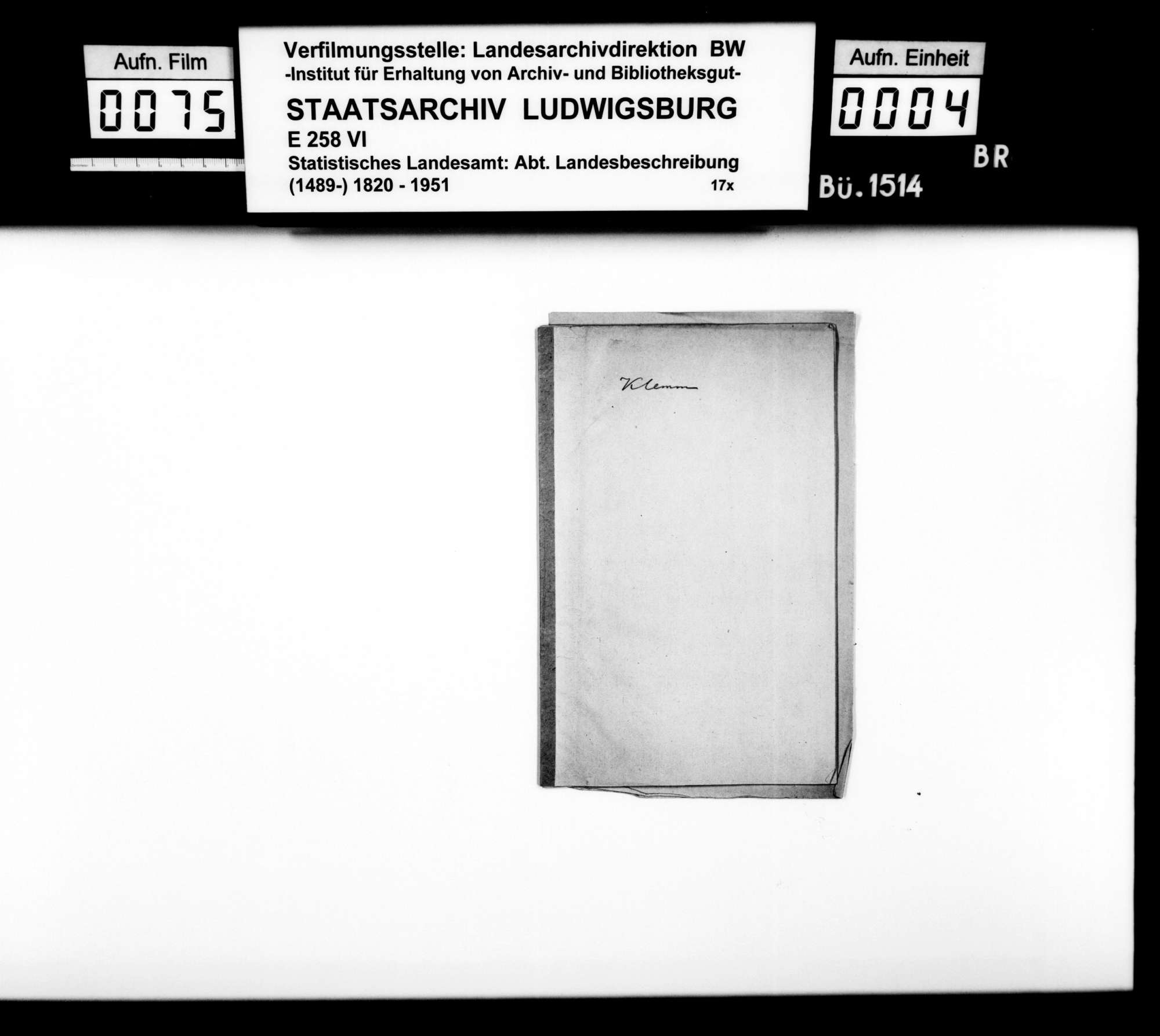 Sammlung gedruckten Materials v.a. zur Geschichte, für eine Neubearbeitung der OAB, Bild 3