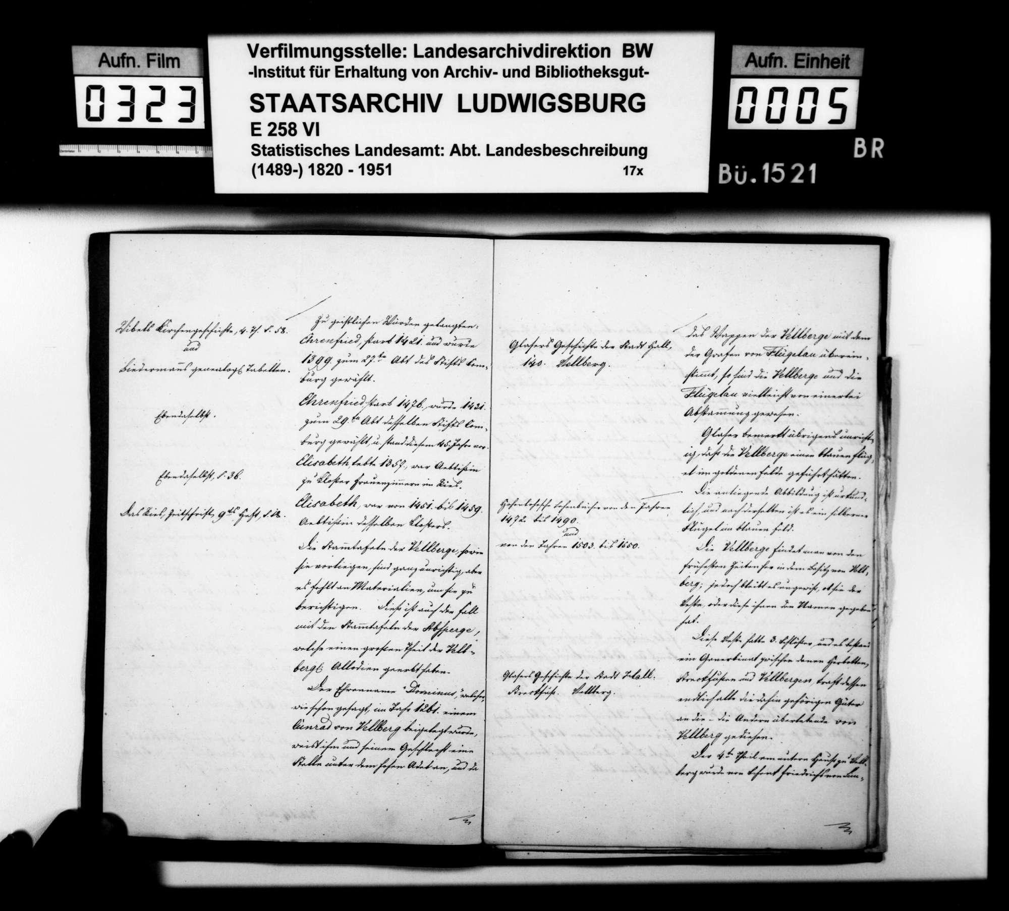 Historiographische Abhandlung des [Hofrats] Hammer aus Kirchberg über das Geschlecht und den Besitz der Herren von Vellberg, v.a. in und um Leofels, Bild 3