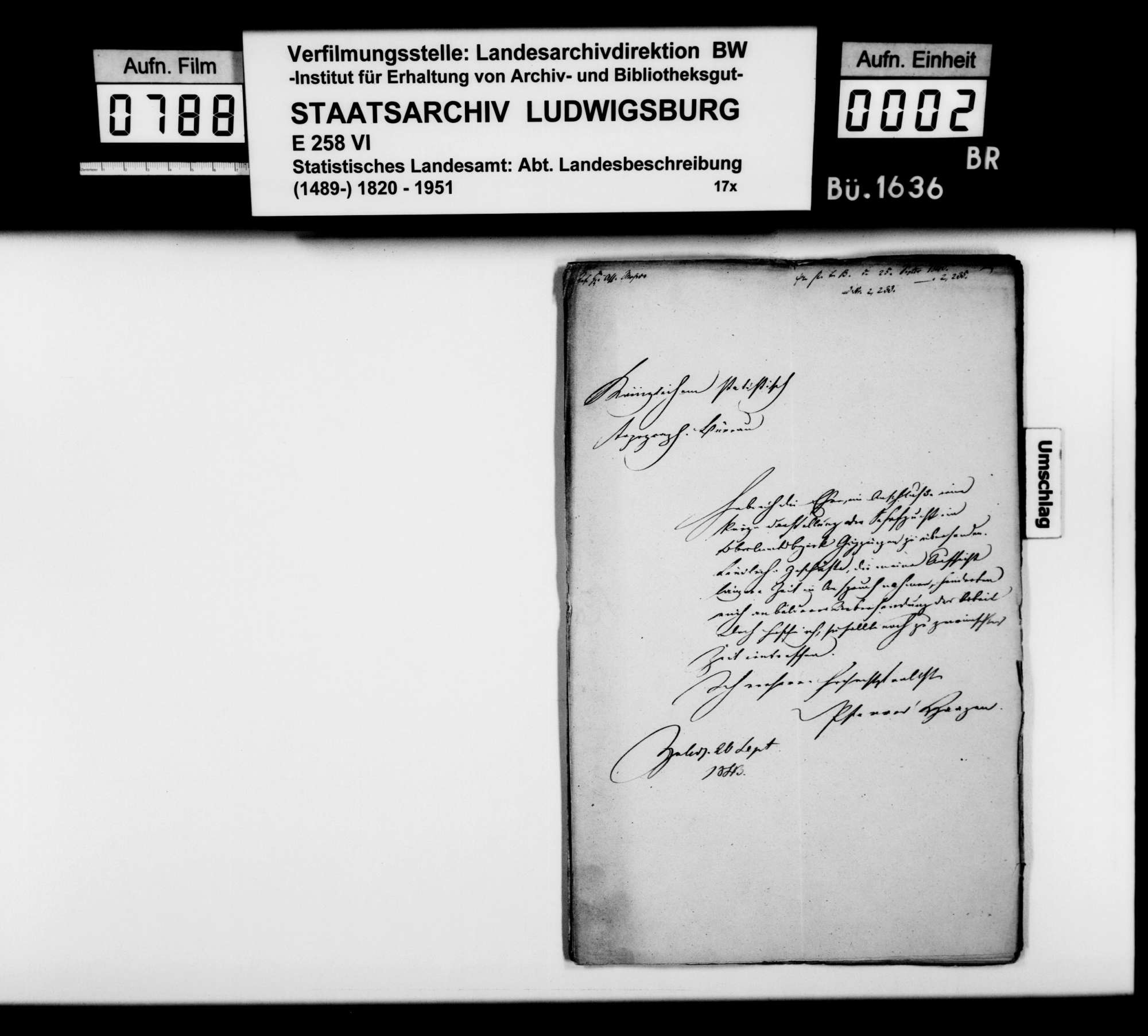 Abhandlungen des Pfarrers Haagen aus Zell [unter Aichelberg] über die Pferde-, Rinder- und Schafzucht im Oberamt, Bild 1