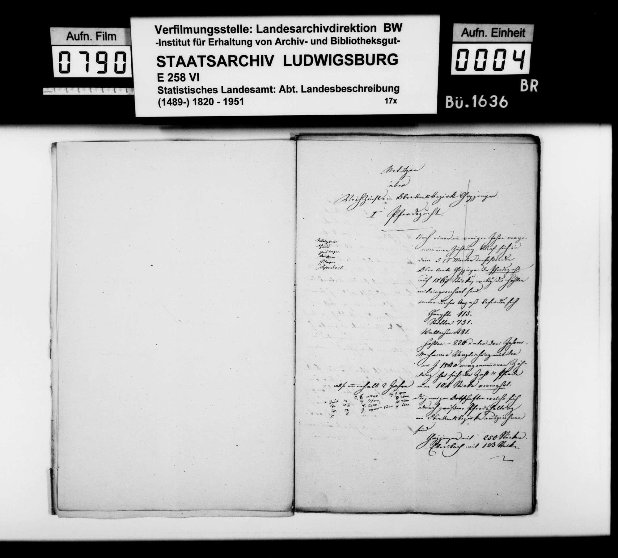 Abhandlungen des Pfarrers Haagen aus Zell [unter Aichelberg] über die Pferde-, Rinder- und Schafzucht im Oberamt, Bild 3