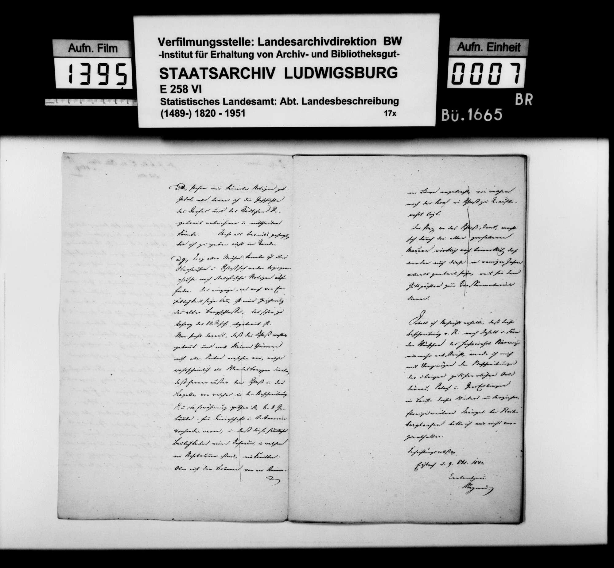 Beschreibung von Rechberghausen durch Rentamtmann Magenau aus Eybach, Bild 2