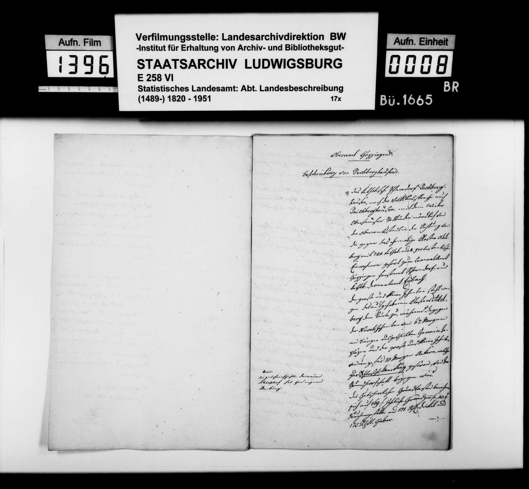Beschreibung von Rechberghausen durch Rentamtmann Magenau aus Eybach, Bild 3
