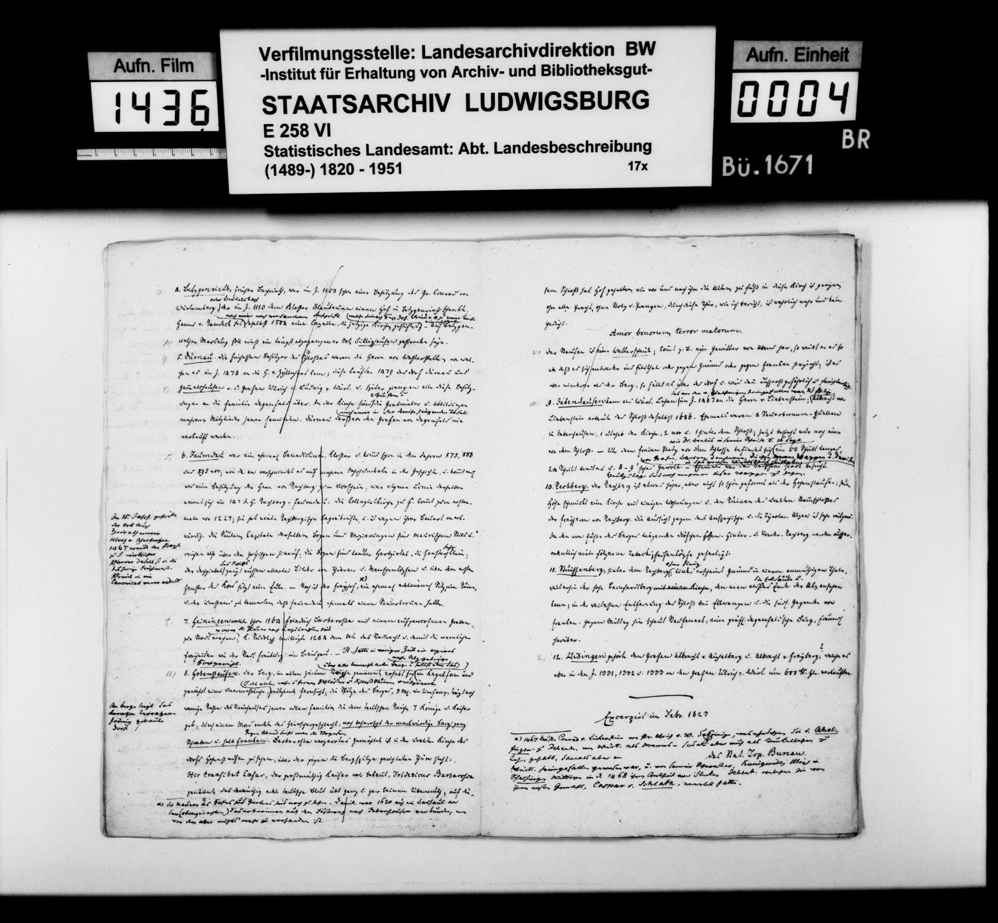 Auszüge aus Heft I des Kameralamtsgrundbuchs Göppingen mit grundlegenden Informationen zum Oberamtsbezirk, Bild 3