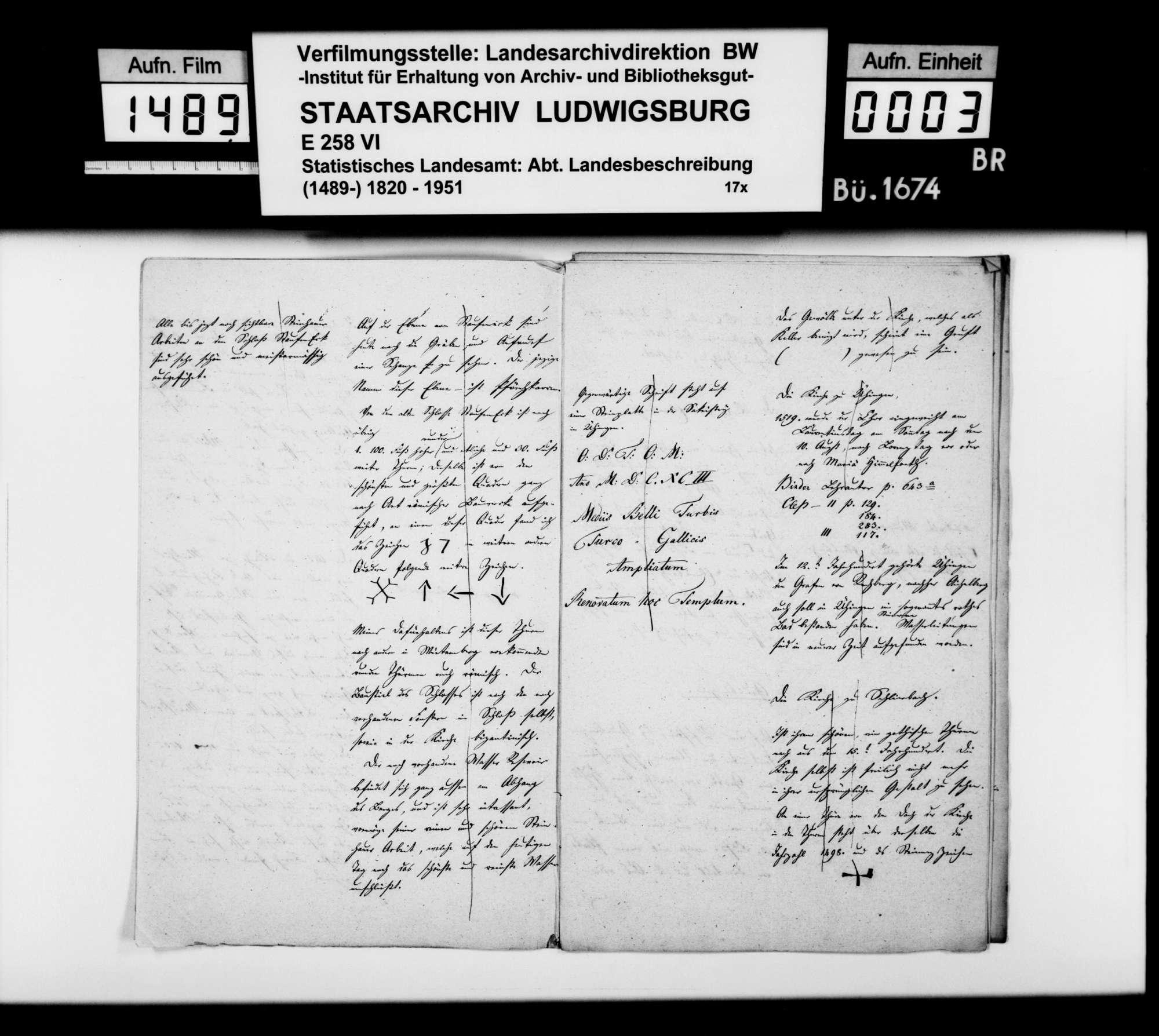 Mitteilungen [des Oberamtmanns Kausler] und Übermittlung weiterer Berichte zu Kirchen, Burgruinen, Volkssagen u.dgl., Bild 2