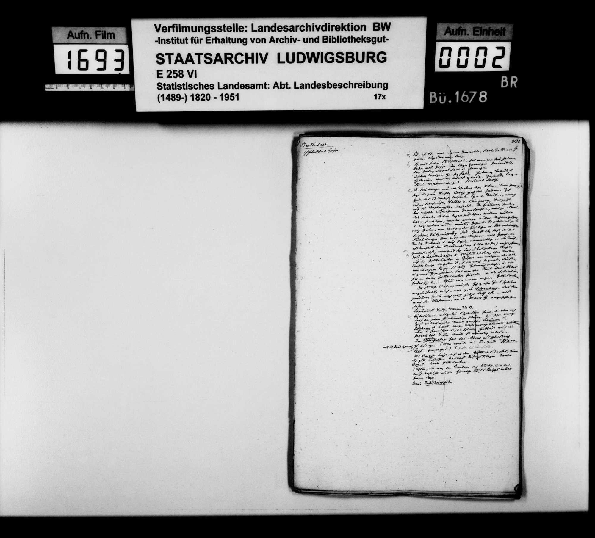 Desgleichen von Bartenbach; fol. 231-256, Bild 1