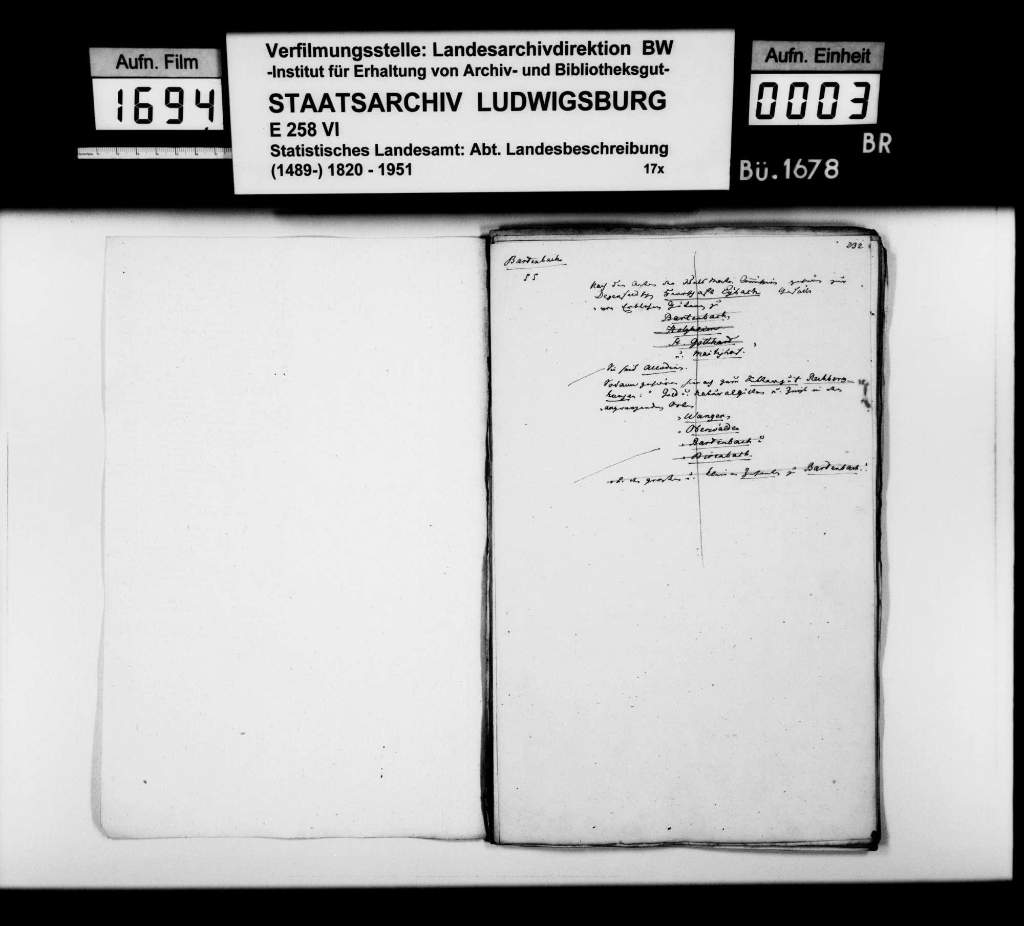 Desgleichen von Bartenbach; fol. 231-256, Bild 2