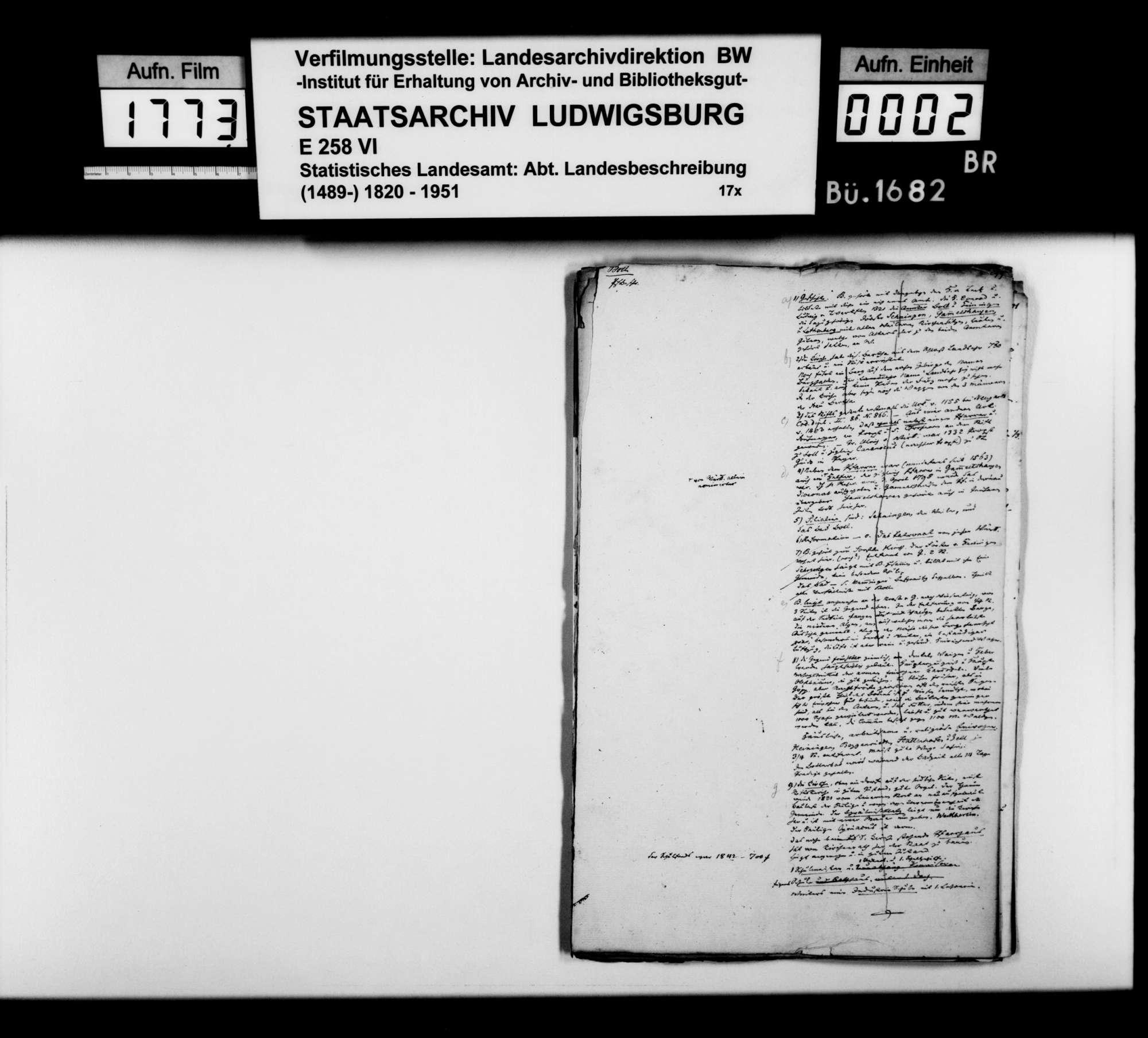 Desgleichen von Boll und Bad Boll; fol. 299-317, Bild 1
