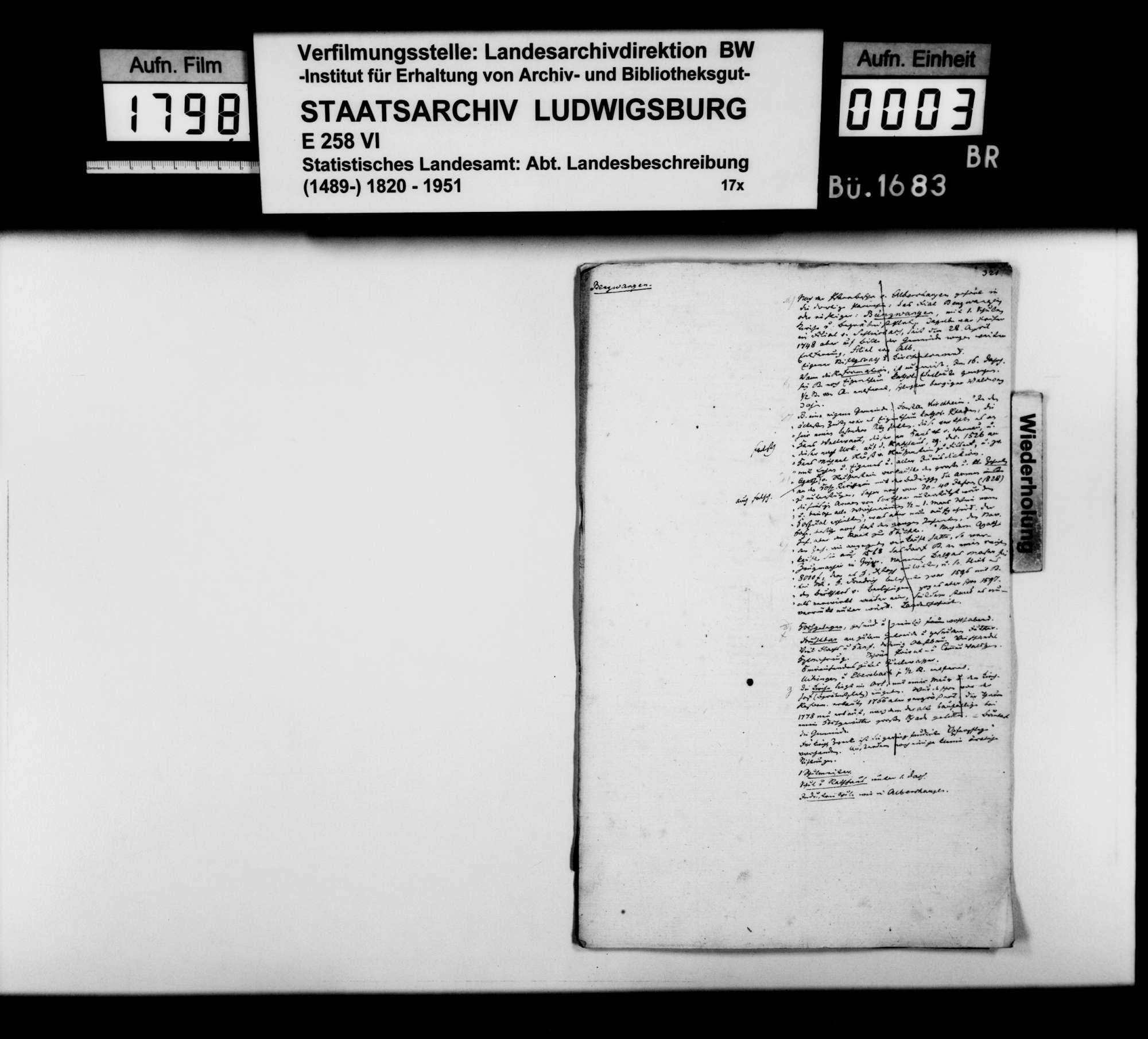 Desgleichen von Bünzwangen; fol. 321-328, Bild 1