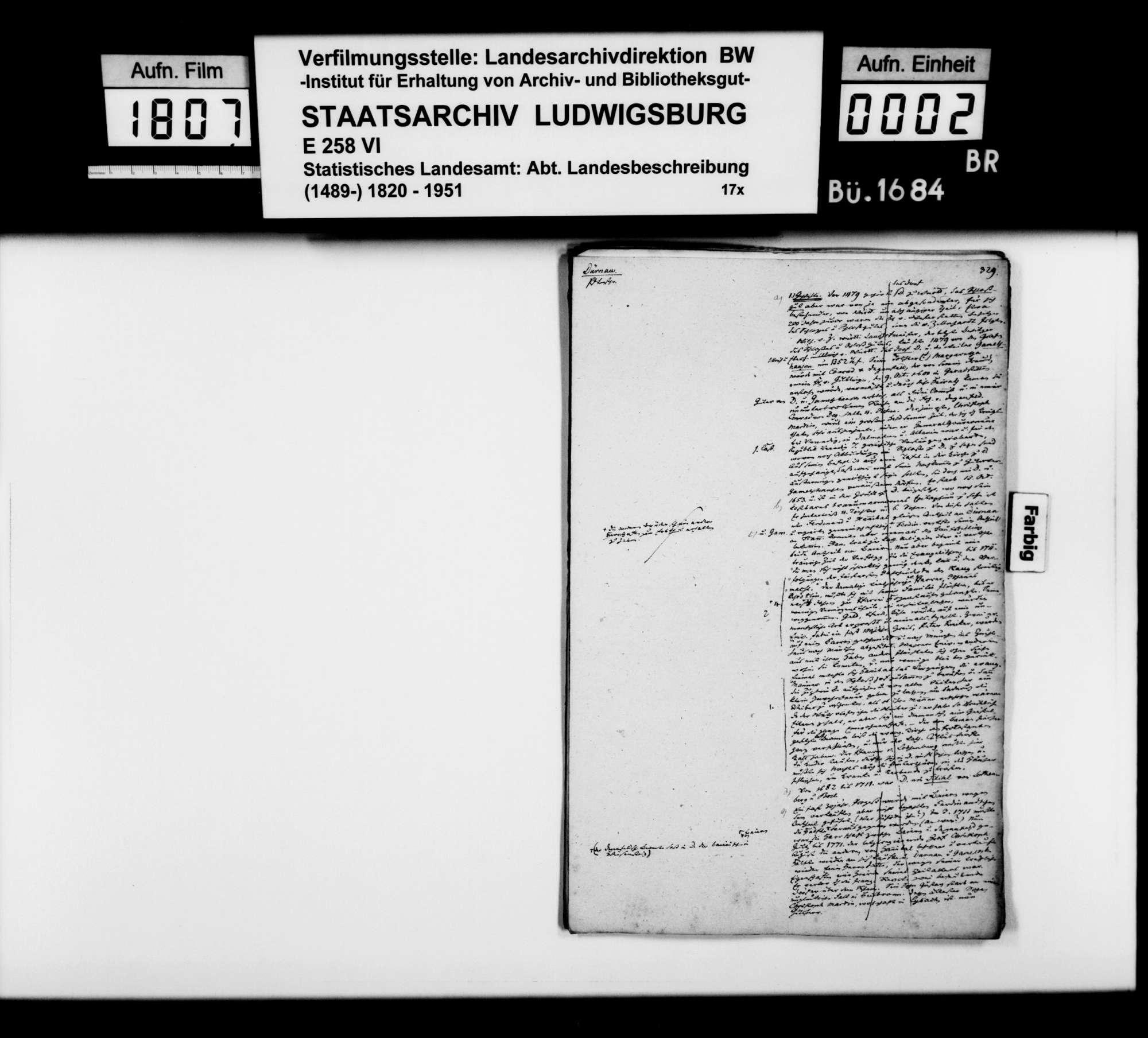 Desgleichen von Dürnau; fol. 329-348, Bild 1
