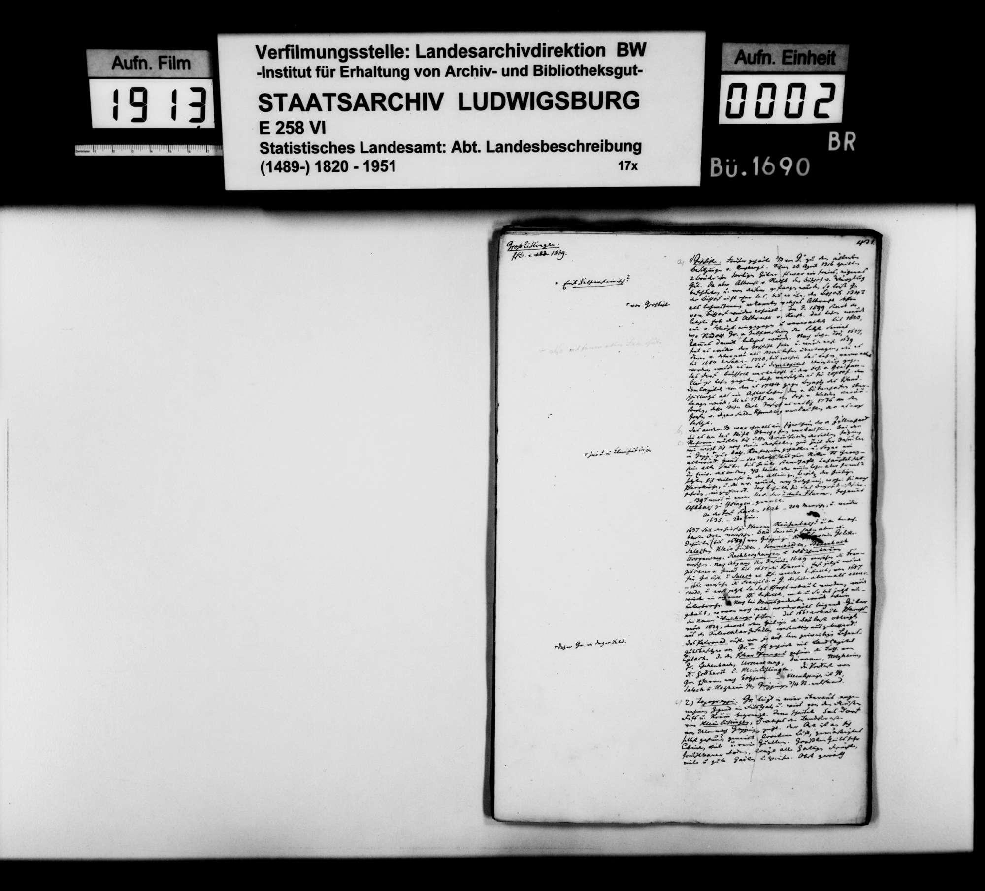 Desgleichen von Groß-Eislingen; fol. 431-461, Bild 1