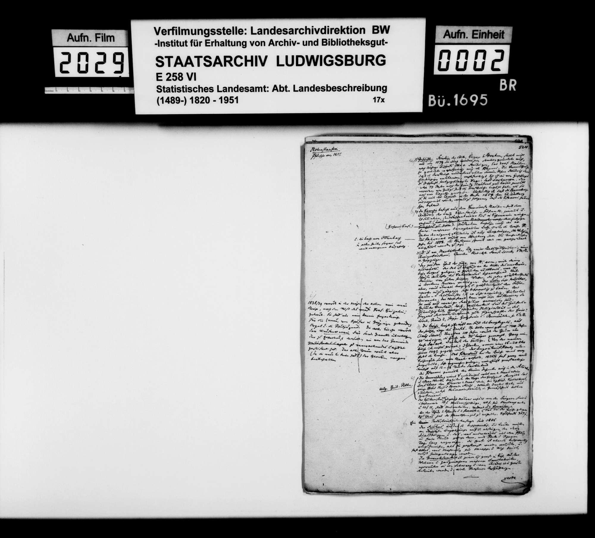 Desgleichen von Hohenstaufen; fol. 524-571, Bild 1