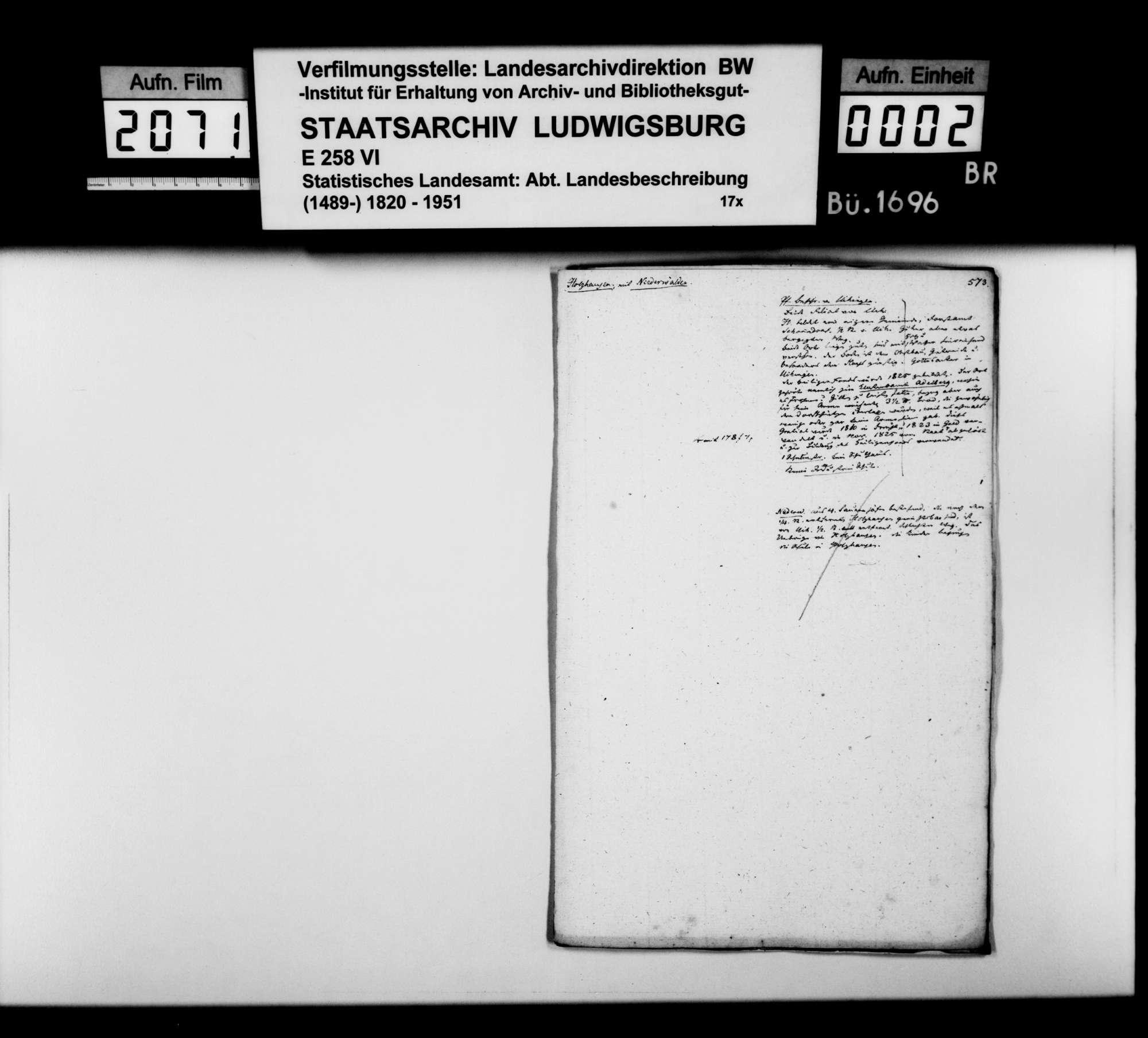 Desgleichen von Holzhausen; fol. 573-580, Bild 1