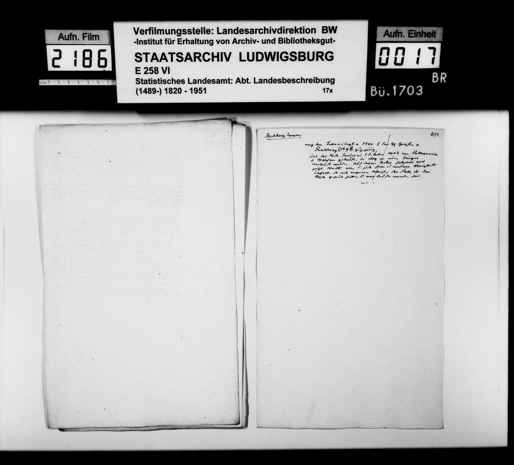 Desgleichen von Rechberghausen; fol. 655-673, Bild 1
