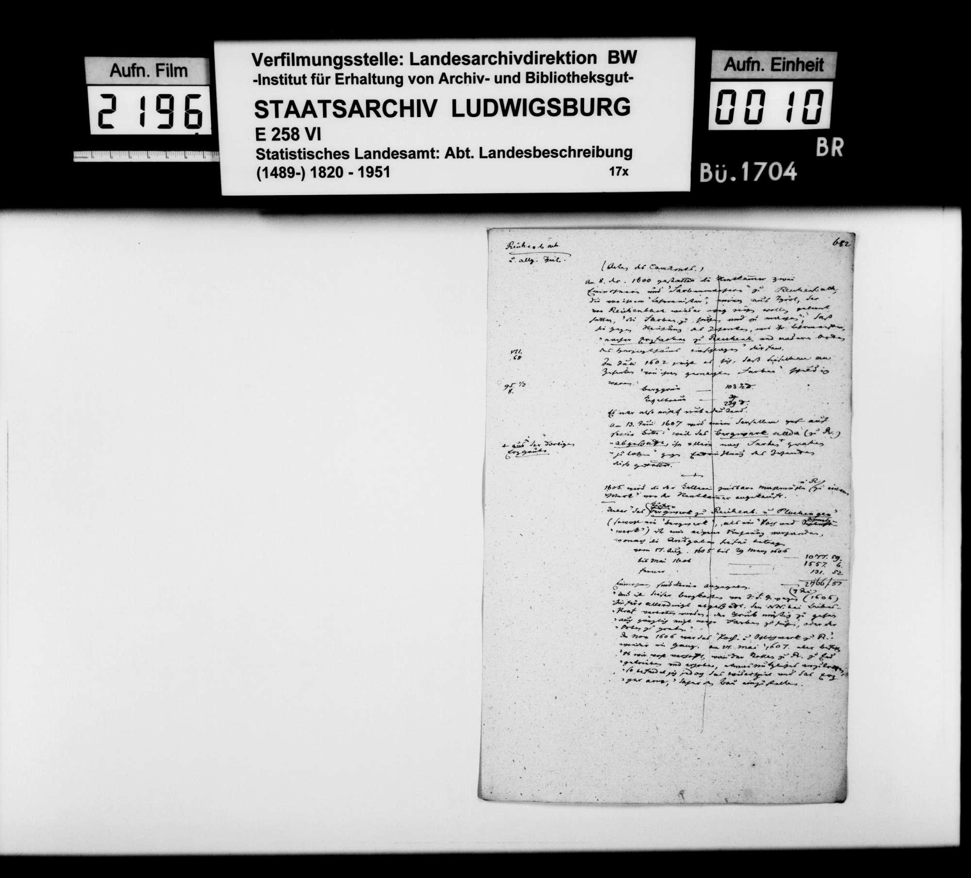 Desgleichen von Reichenbach; fol. 674-682, Bild 1