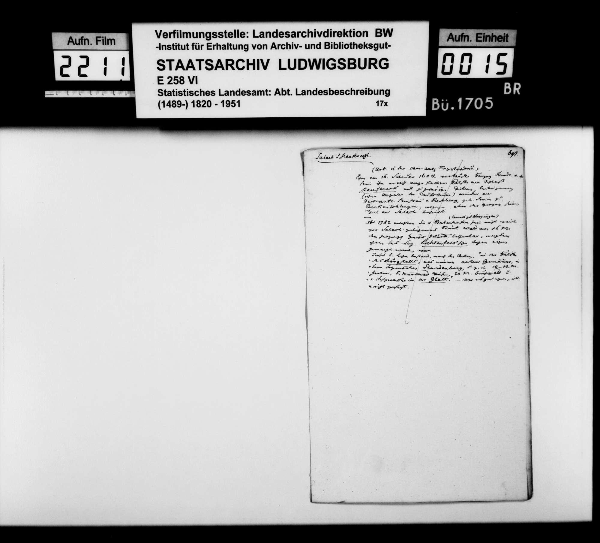 Desgleichen von Salach; fol. 683-698, Bild 2