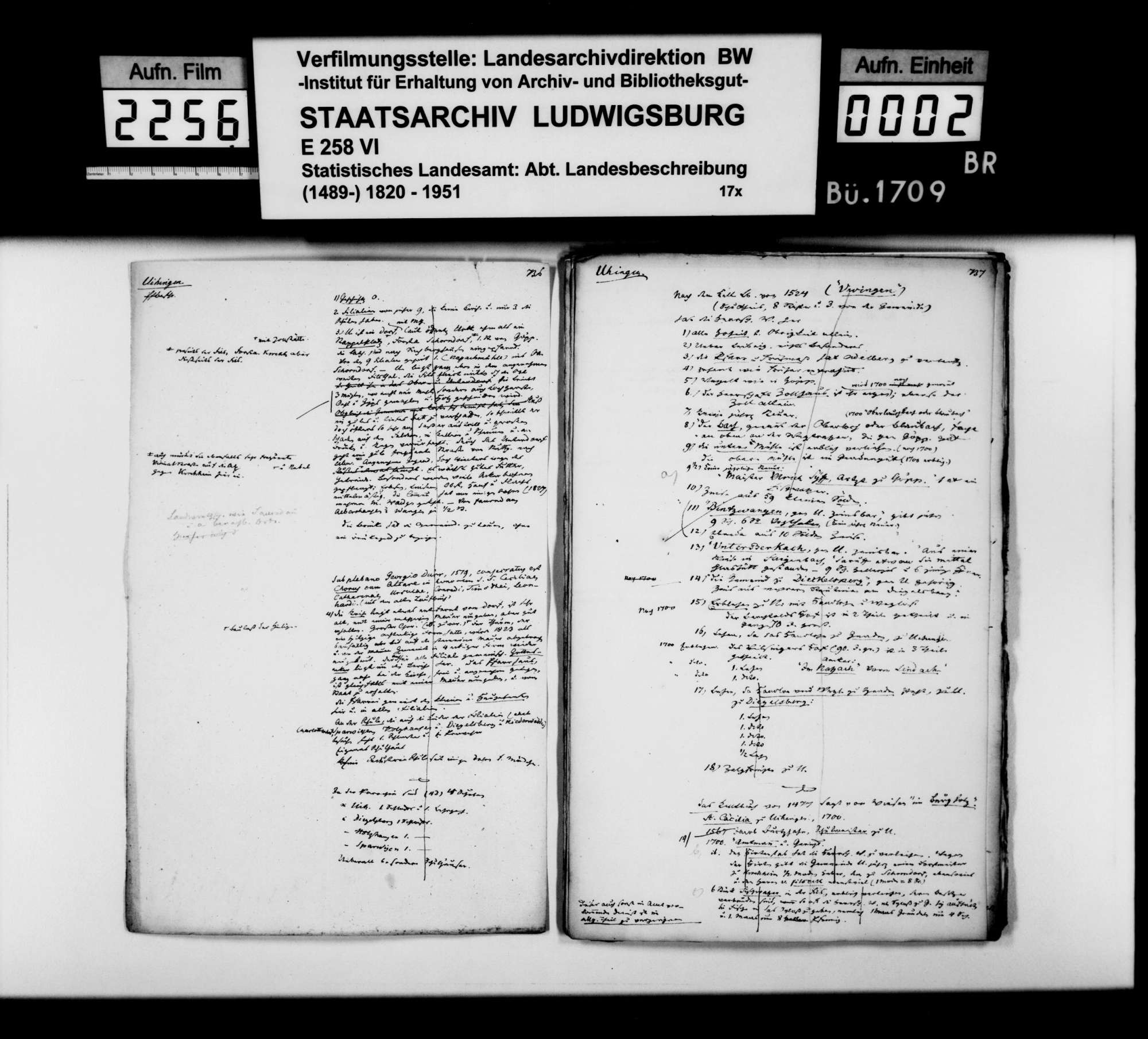 Desgleichen von Uhingen; fol. 736-757, Bild 1