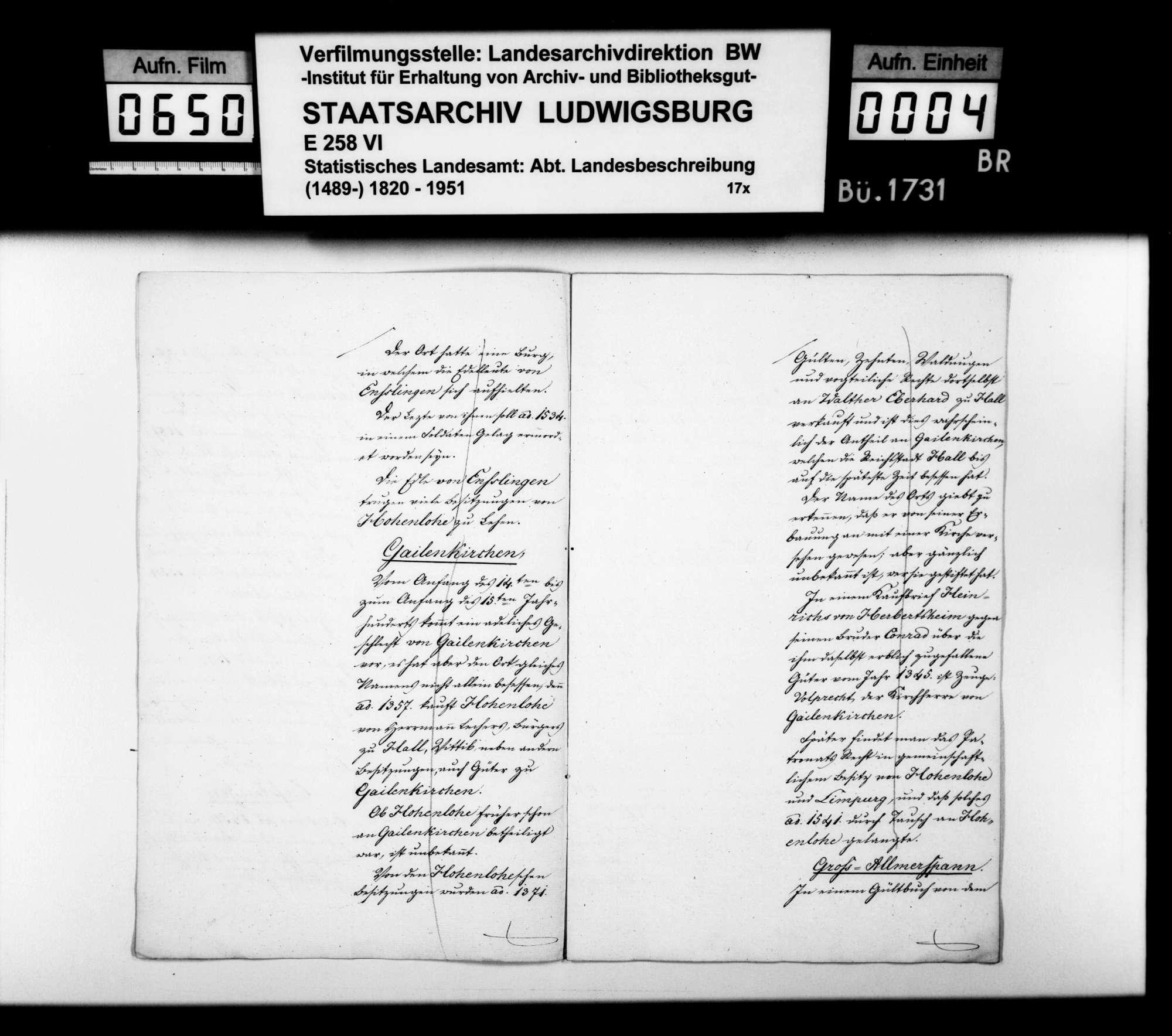 Abhandlung zum Adel und zur Besitzgeschichte einiger Orte im Oberamt, Bild 3
