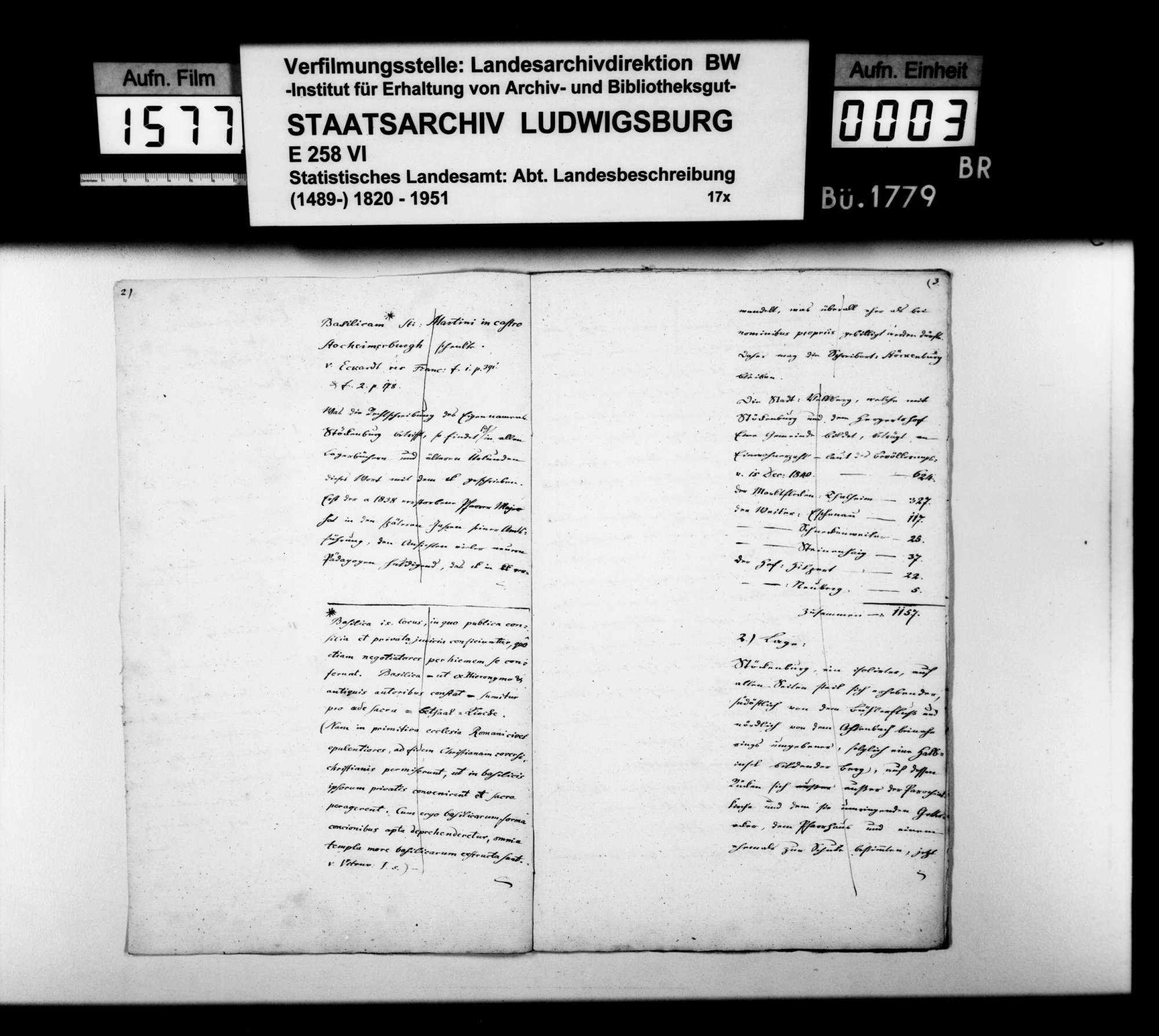 Beschreibung des Pfarrbezirks Stöckenburg von Pfarrer Renner nach den Themen wie oben bei Anhausen, Bild 2