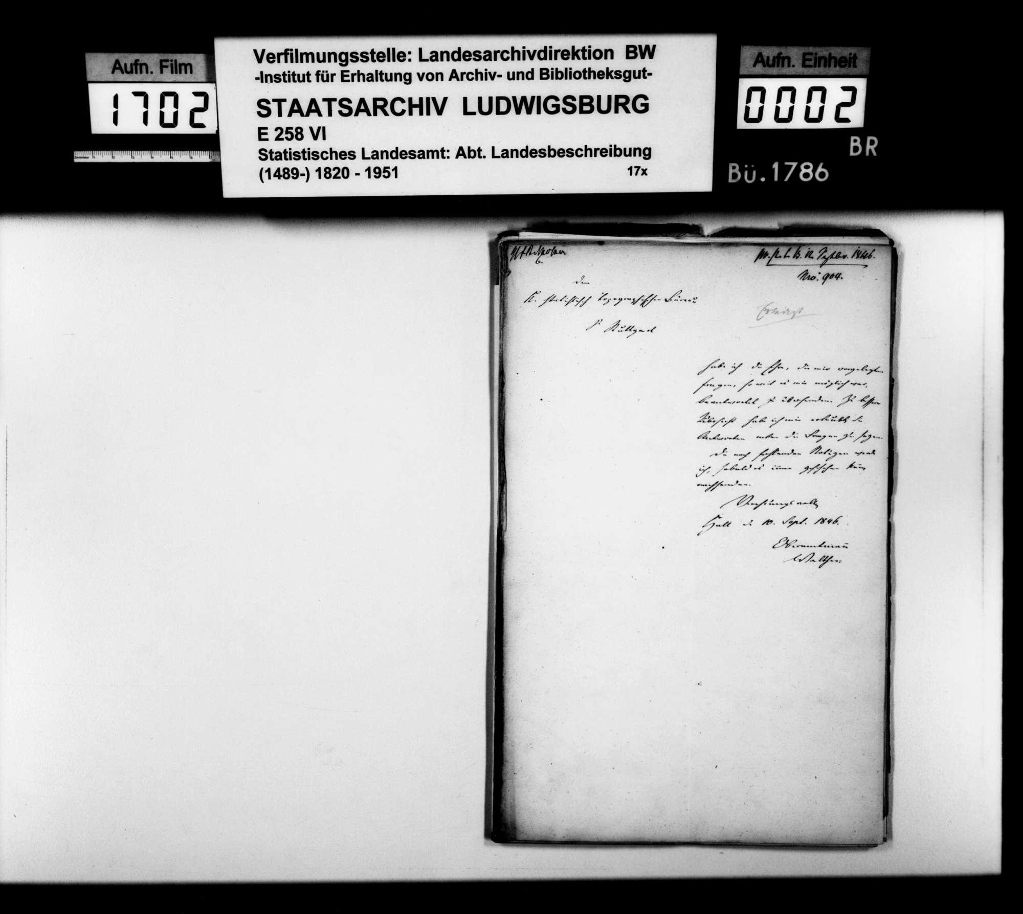Auskünfte des Oberamtmanns Walther für die Klärung offener Fragen des STBs zur OAB, Bild 1