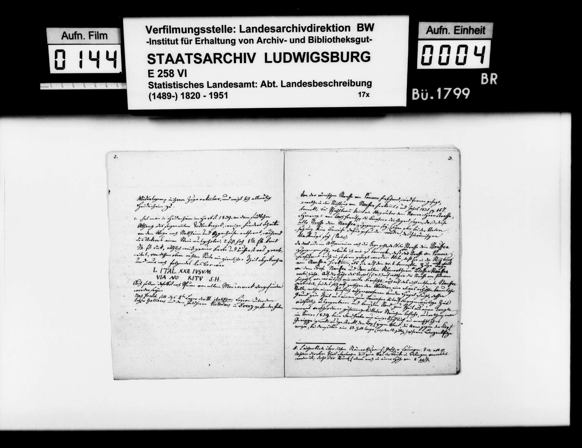 Mitteilungen des Diakons Klemm aus Giengen zu den Römerstraßen durch das Oberamt und zur Identifikation von Giengen als römisches Riusiava, Bild 3