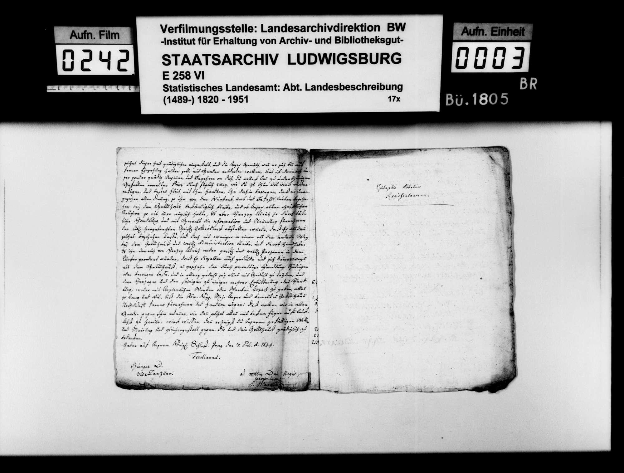 Kopierte Quellen zur Geschichte des Klosters Königsbronn, Bild 2