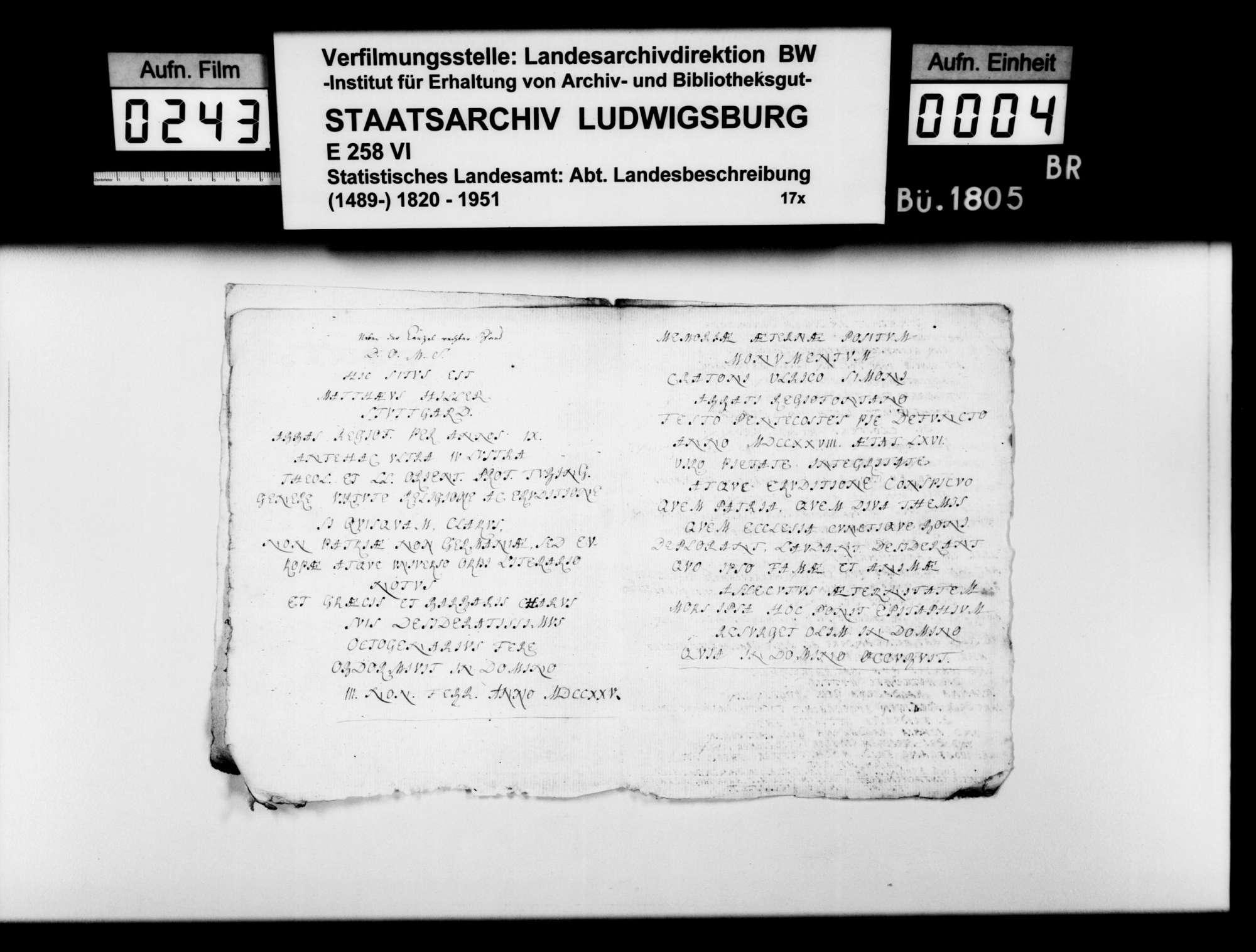 Kopierte Quellen zur Geschichte des Klosters Königsbronn, Bild 3