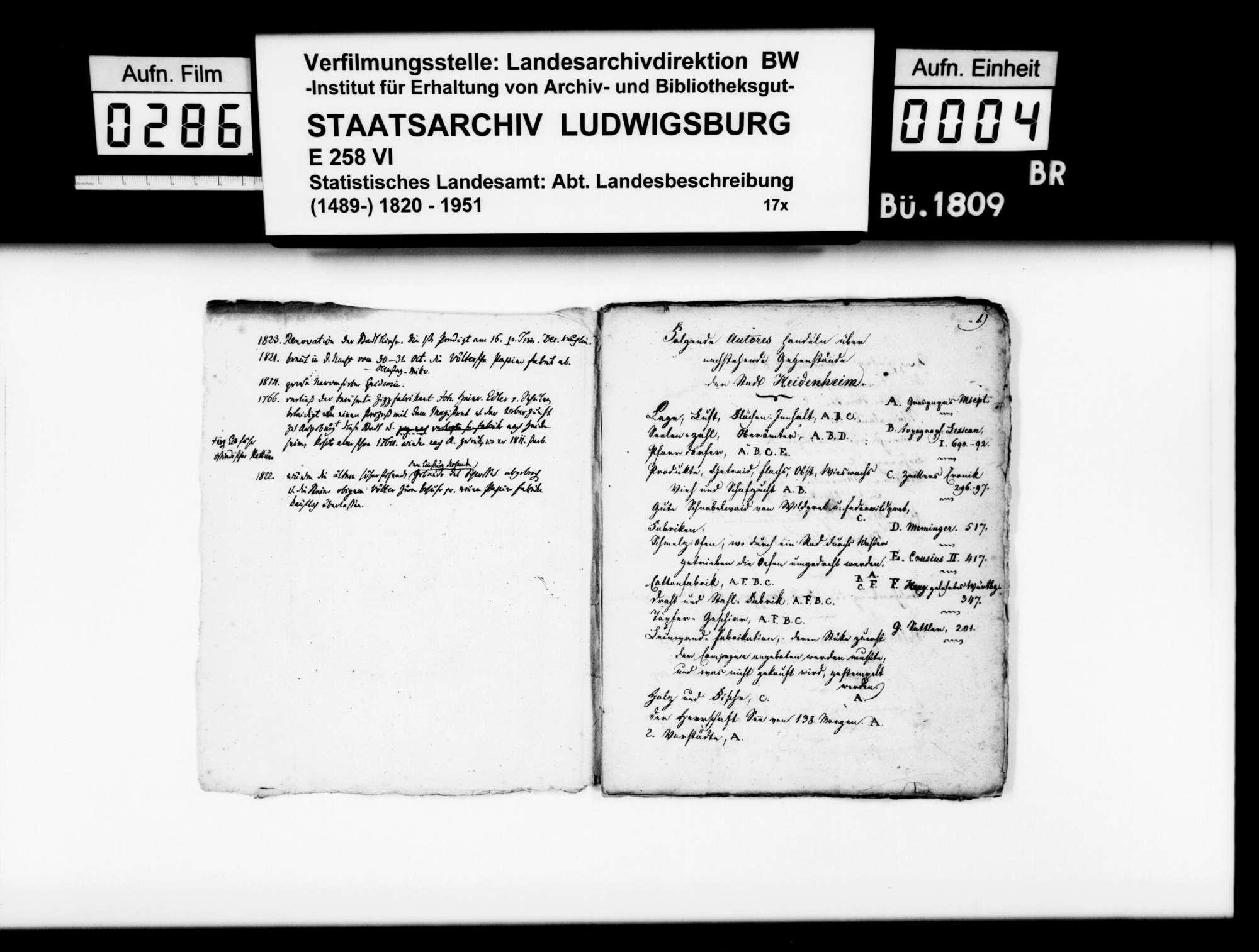 Kollektaneen des Pfarrers Magenau aus Hermaringen zur Geschichte des Oberamts Heidenheim, Bild 3