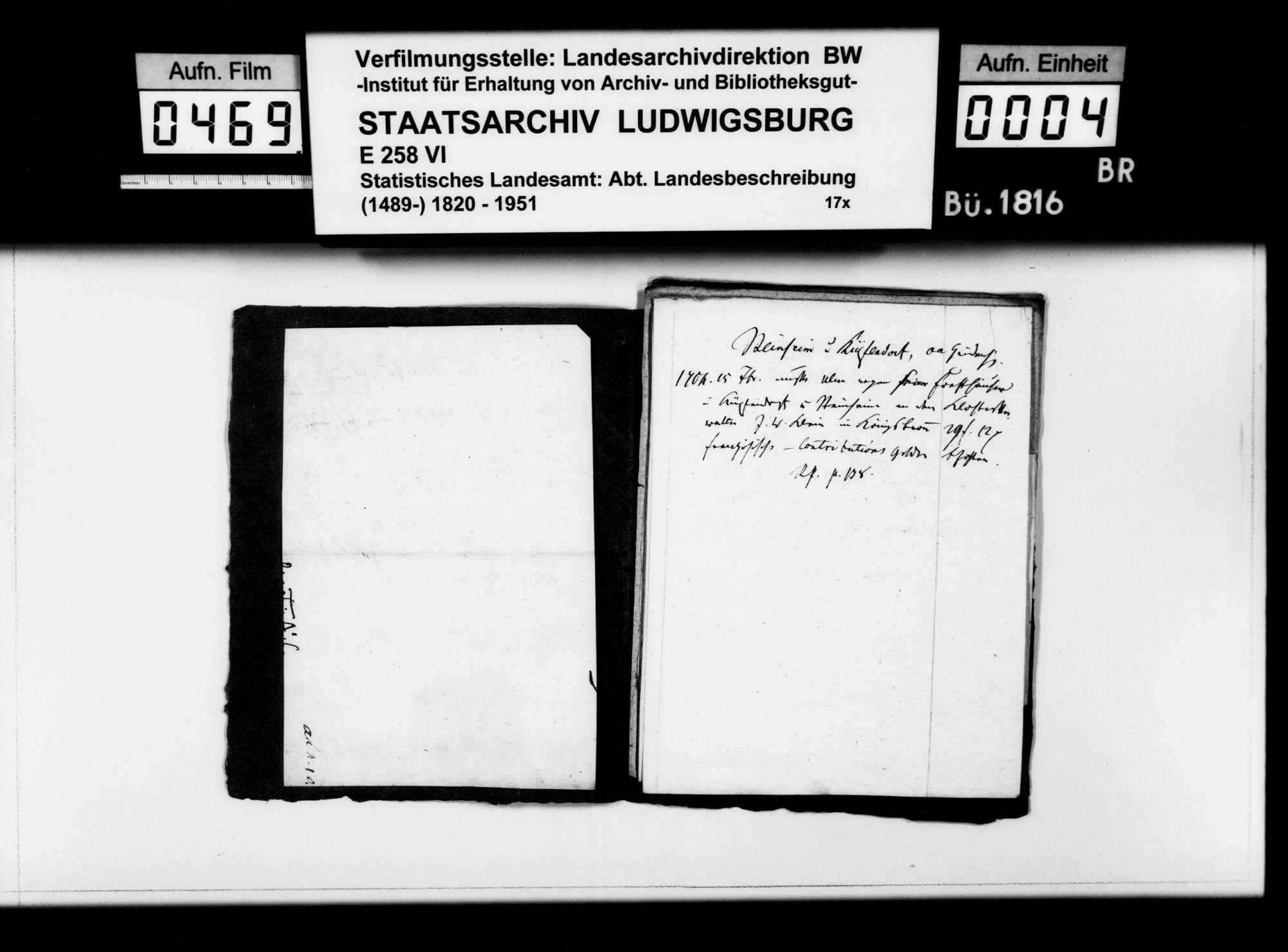 Kollektaneen des Pfarrers Dieterich aus Langenau zur Ortsgeschichte im Oberamt, Bild 3