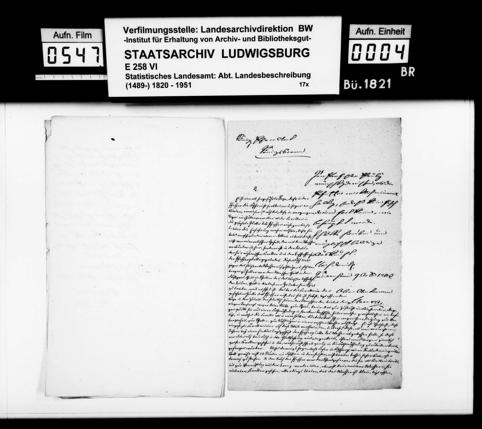 Abhandlung des Pfarrers Schumann aus Königsbronn über den Ursprung des Flüßchens Pfeffer, Bild 3