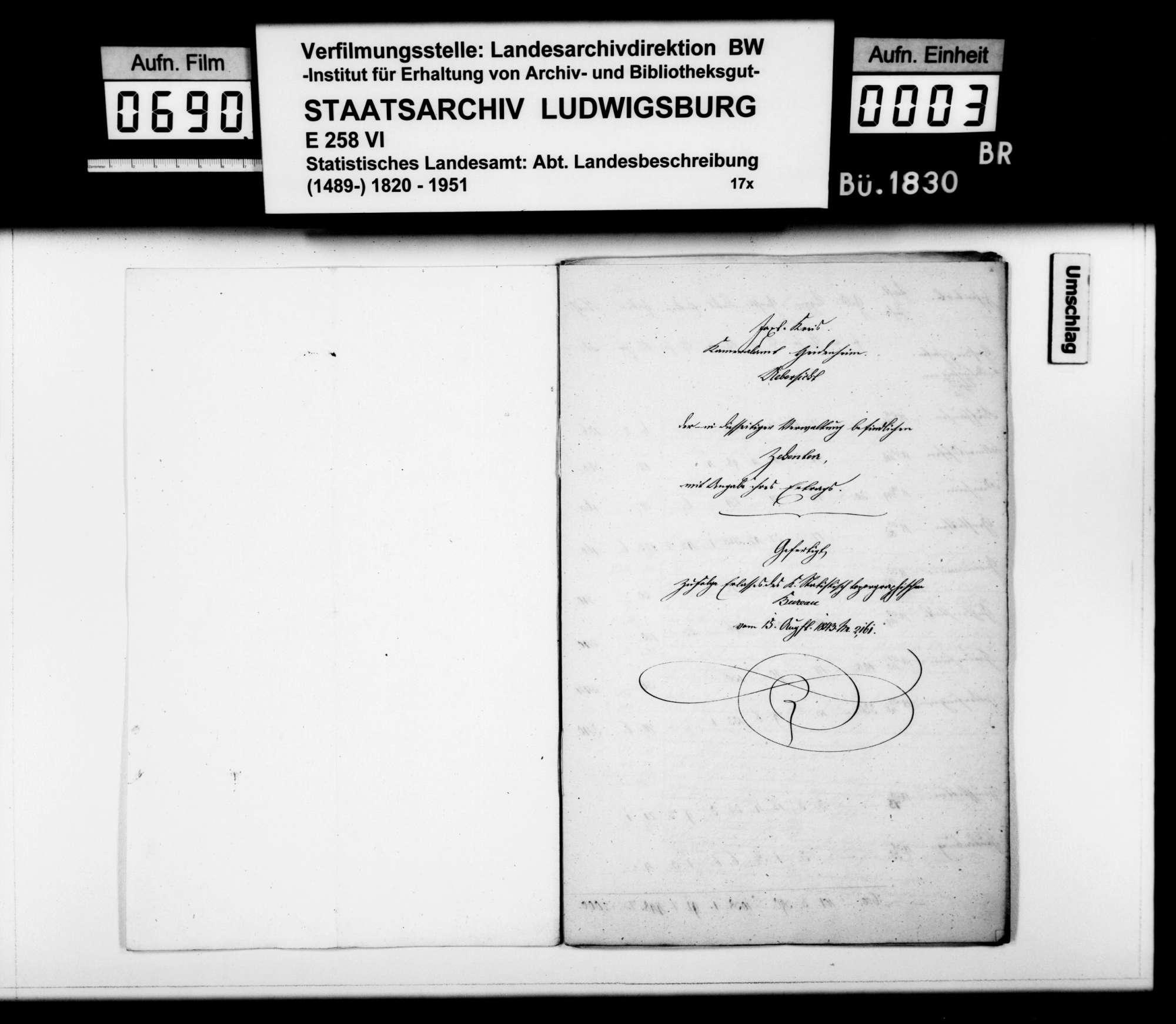 Zehnterträge, Lehens- und Leibeigenschaftsverhältnisse und Grundherrschaften im Oberamt, Bild 2