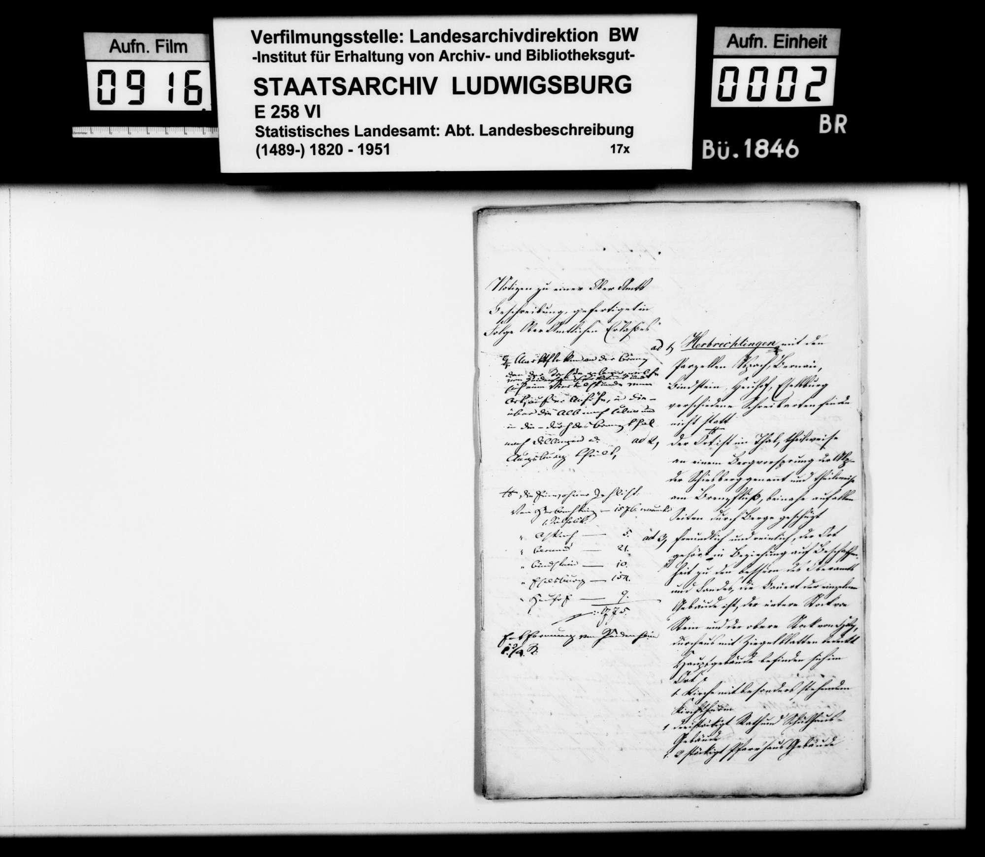 Ortsbeschreibung von Herbrechtingen, Bild 1
