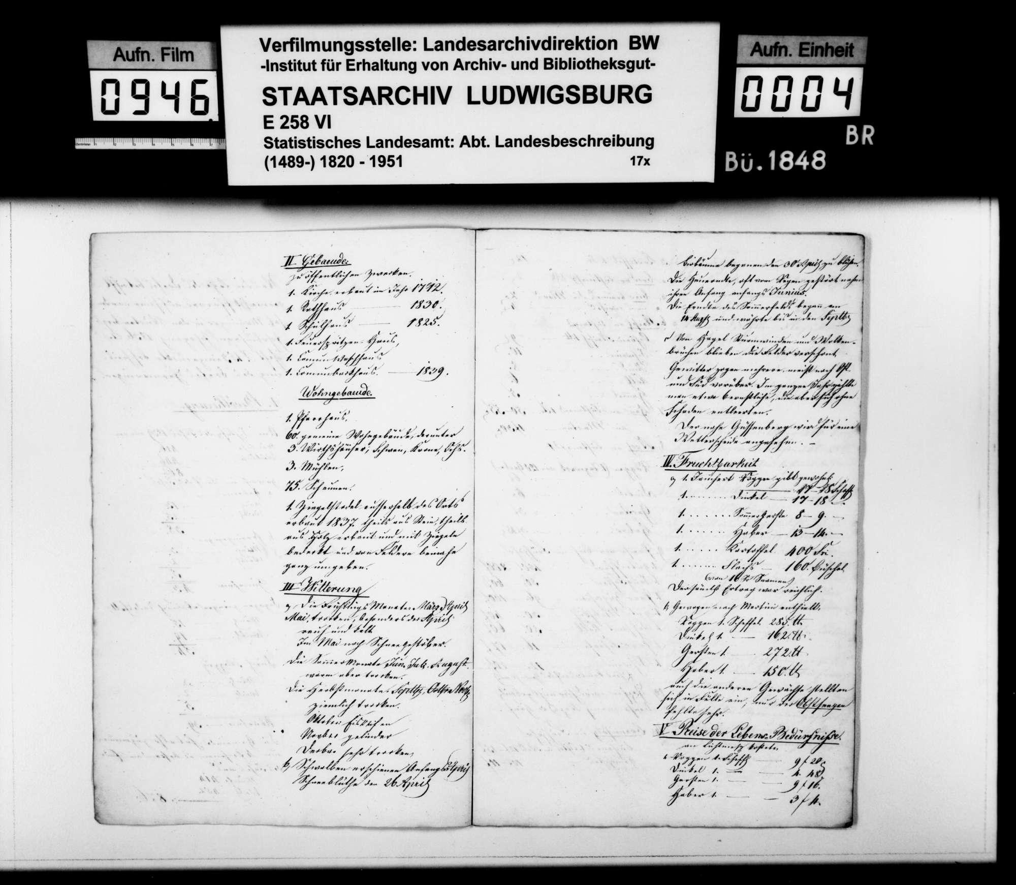 Jahreschronik 1840 des Dorfes Hermaringen, von Pfarrer Magenau, Bild 3
