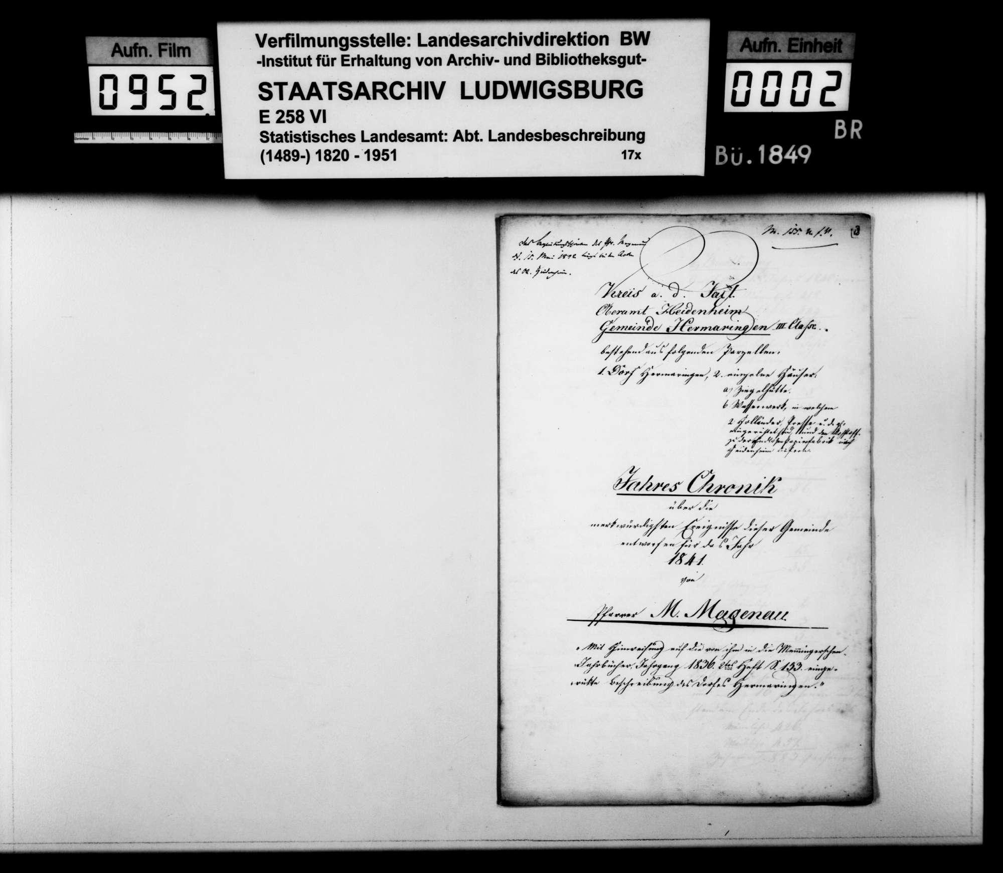 Desgleichen für 1841, Bild 1