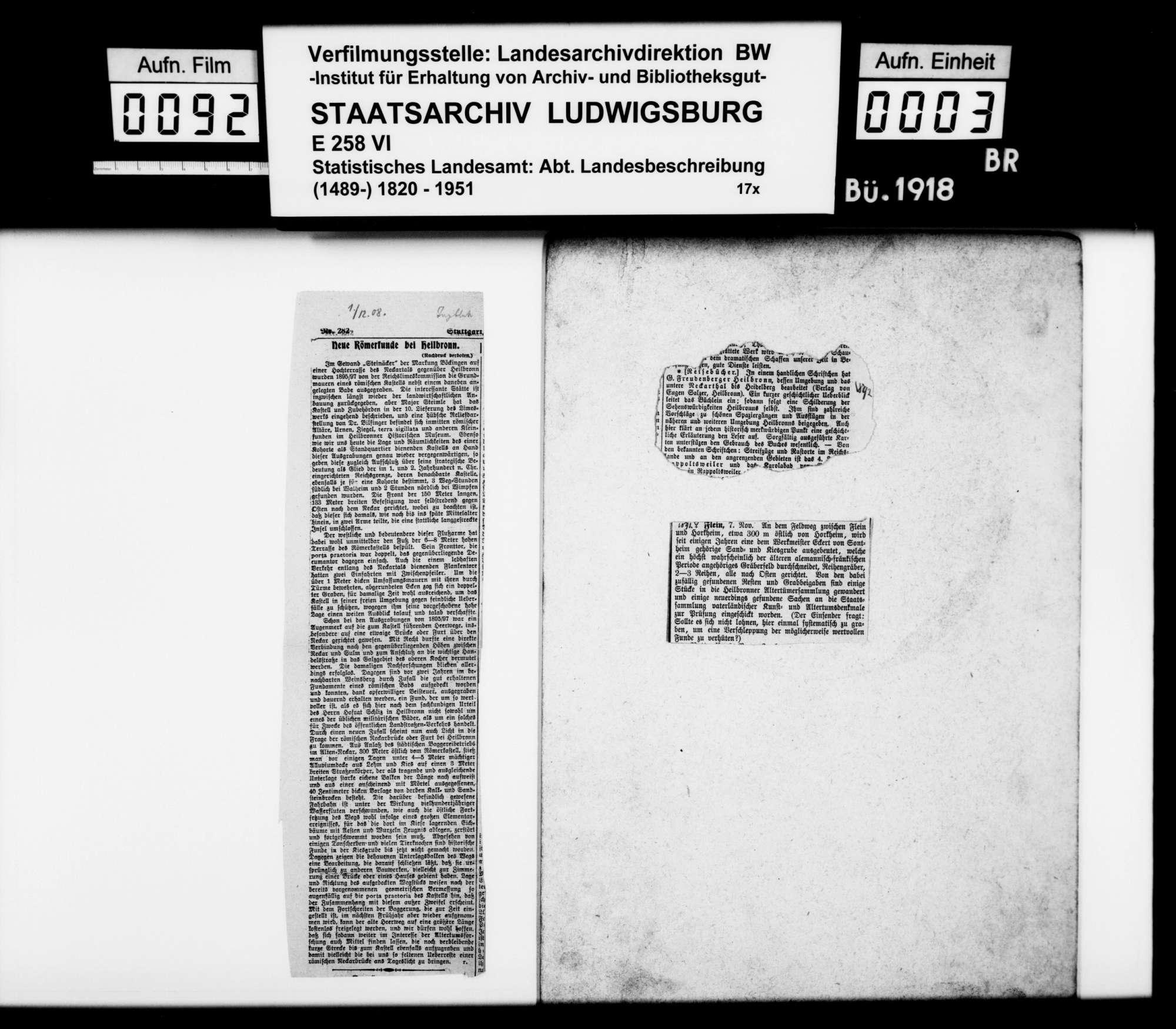 Sammlung gedruckten Materials für die Neubearbeitung der OAB, Bild 2