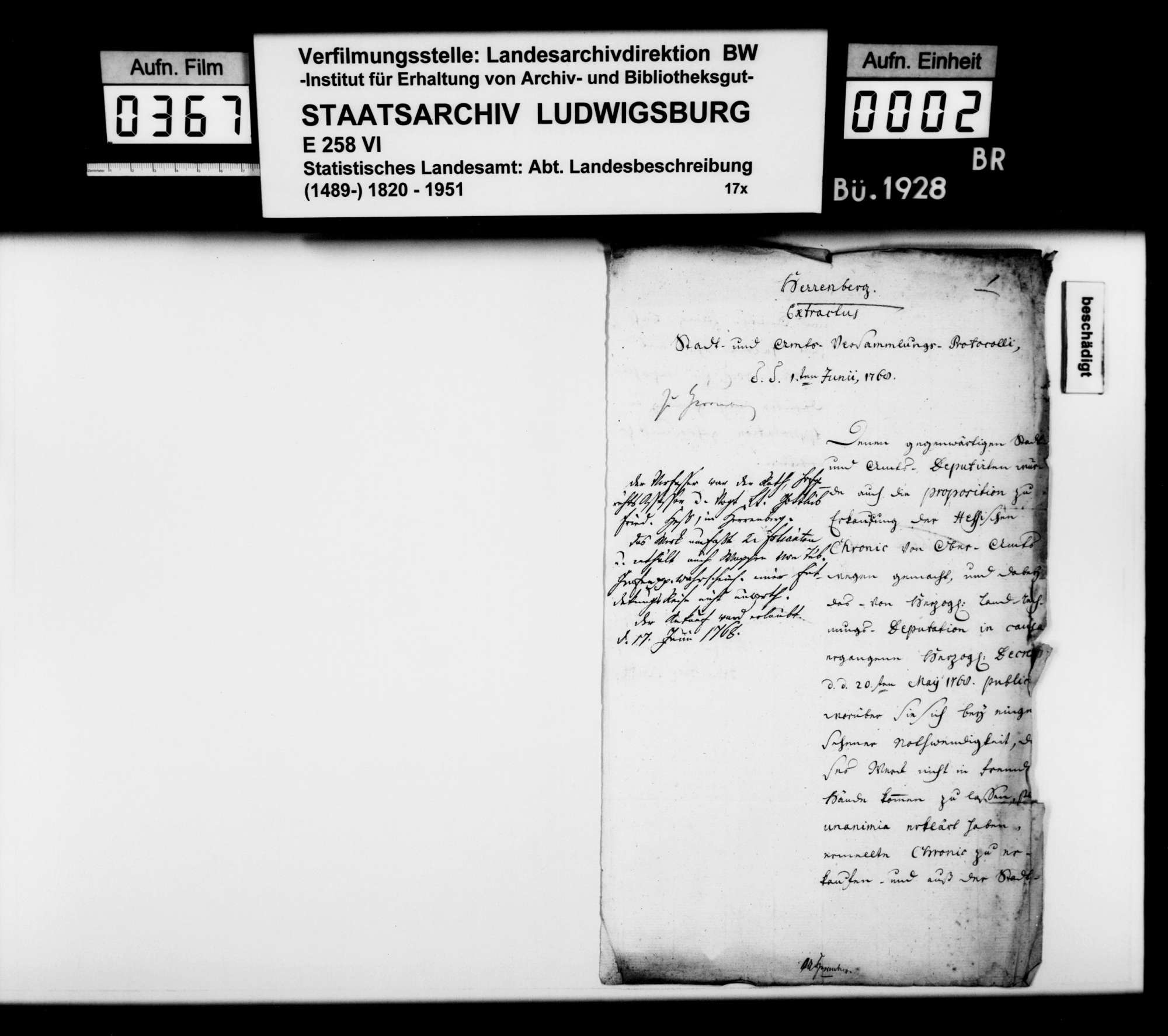 Verschiedene Belege zur Geschichte im Oberamtsbezirk, Bild 1